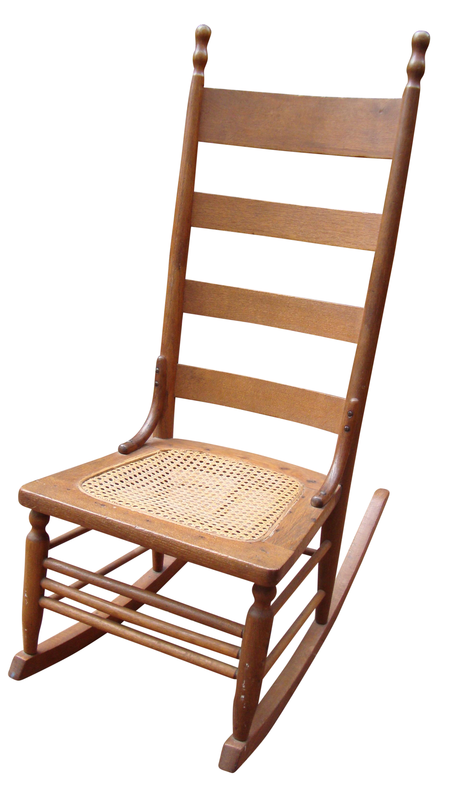 Antique Early American Ladderback Rocker Chair