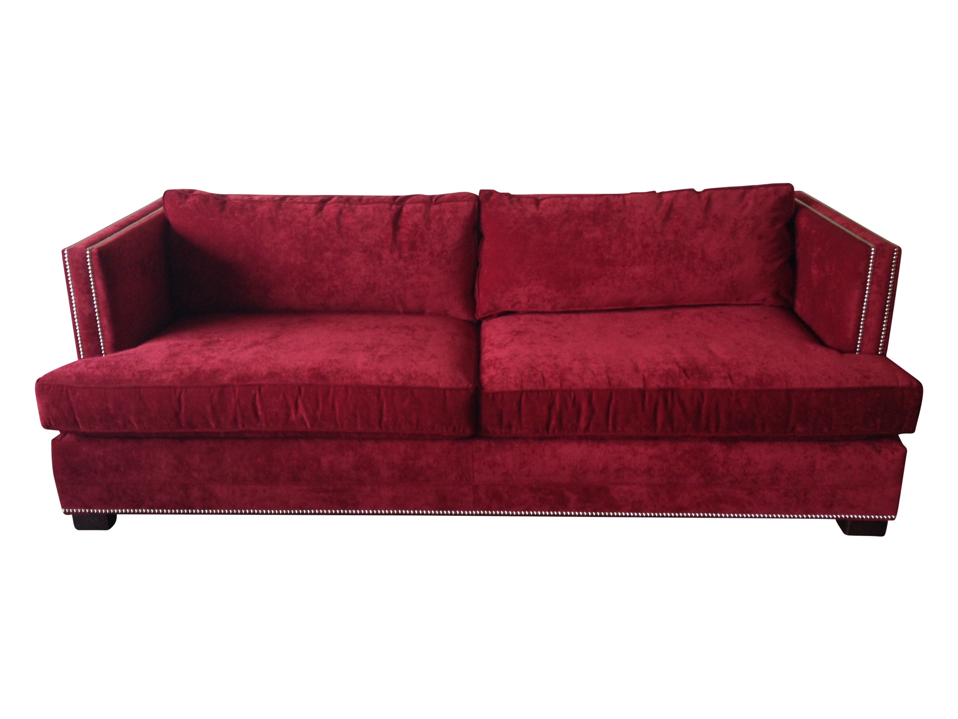 Mitchell gold 94quot keaton sofa in eller crimson chairish for Sofa eller couch