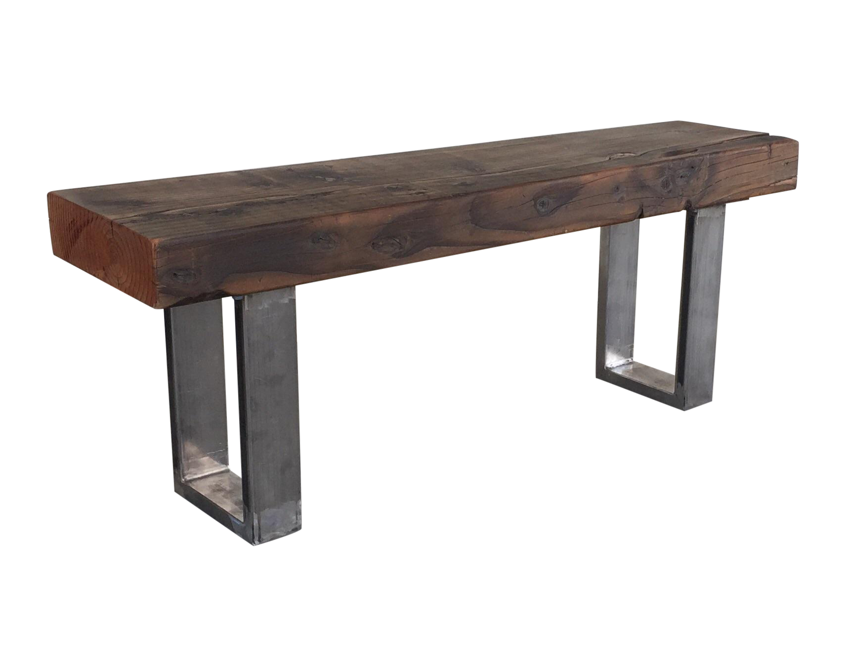 Rustic Modern Reclaimed Wood Bench Chairish