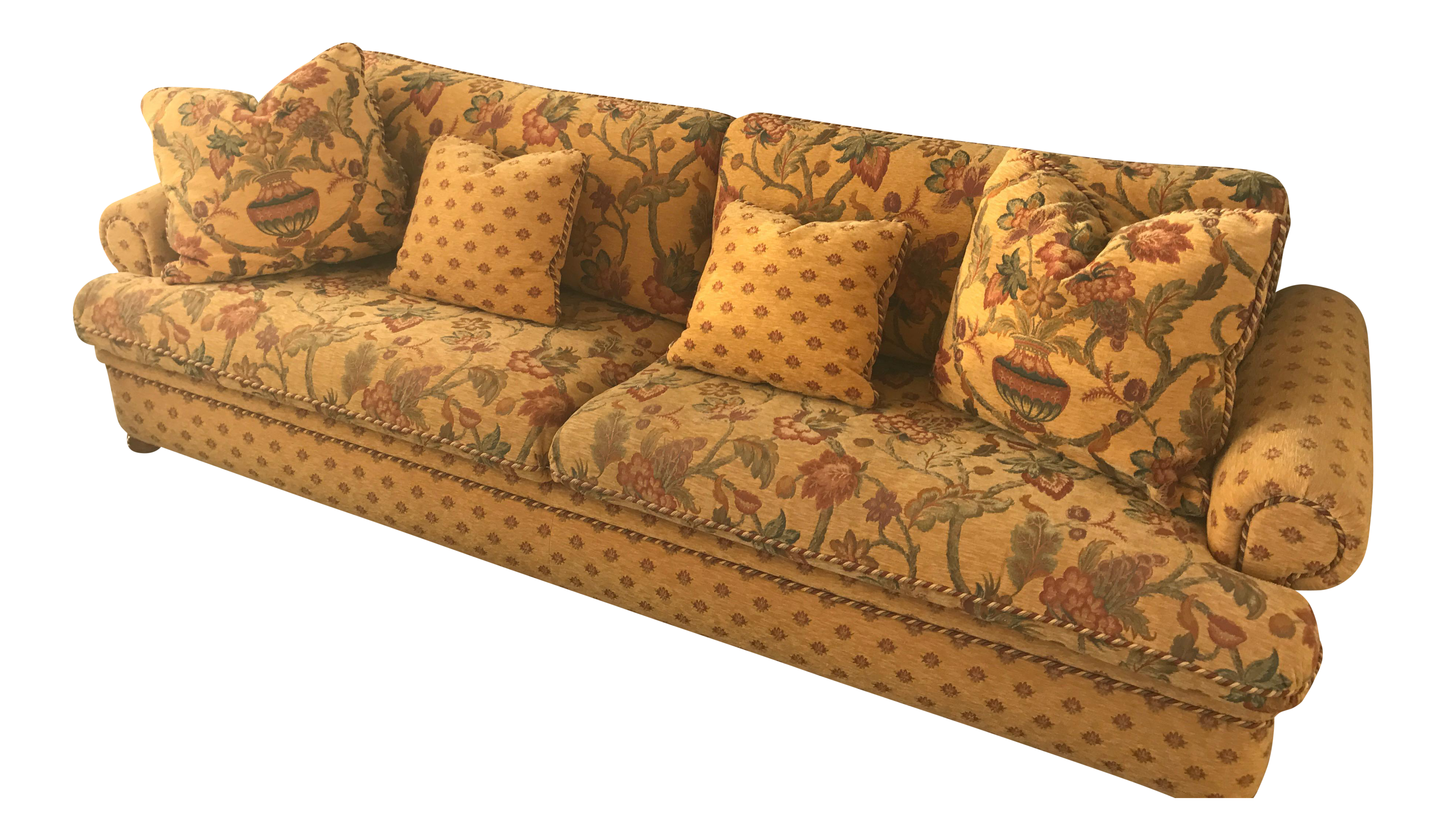 Roche bobois floral sofa chairish for 80s floral couch