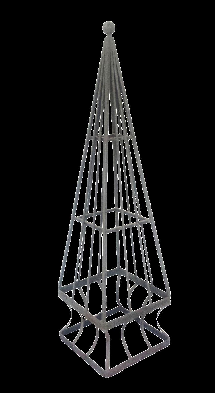 vintage iron obelisk