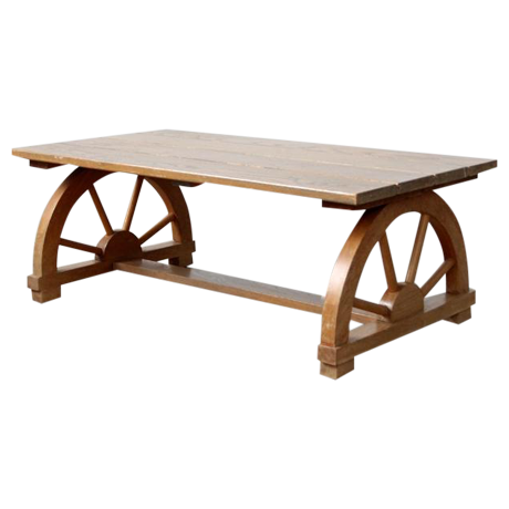 Vintage Wagon Wheel Coffee Table Chairish