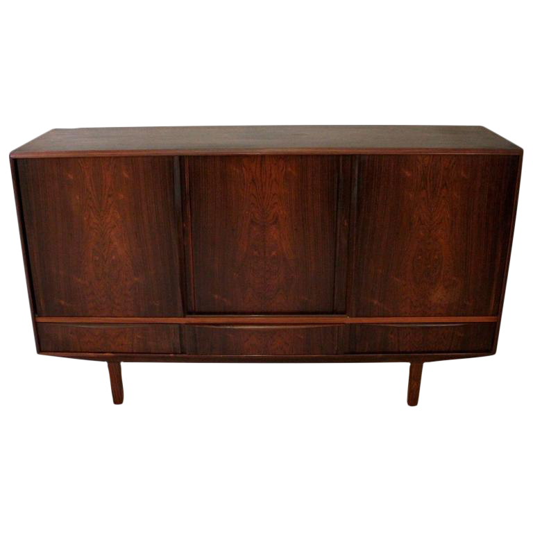 1960s N P Nielsen For Sejling Skabe Danish Modern Rosewood Credenza Chairish