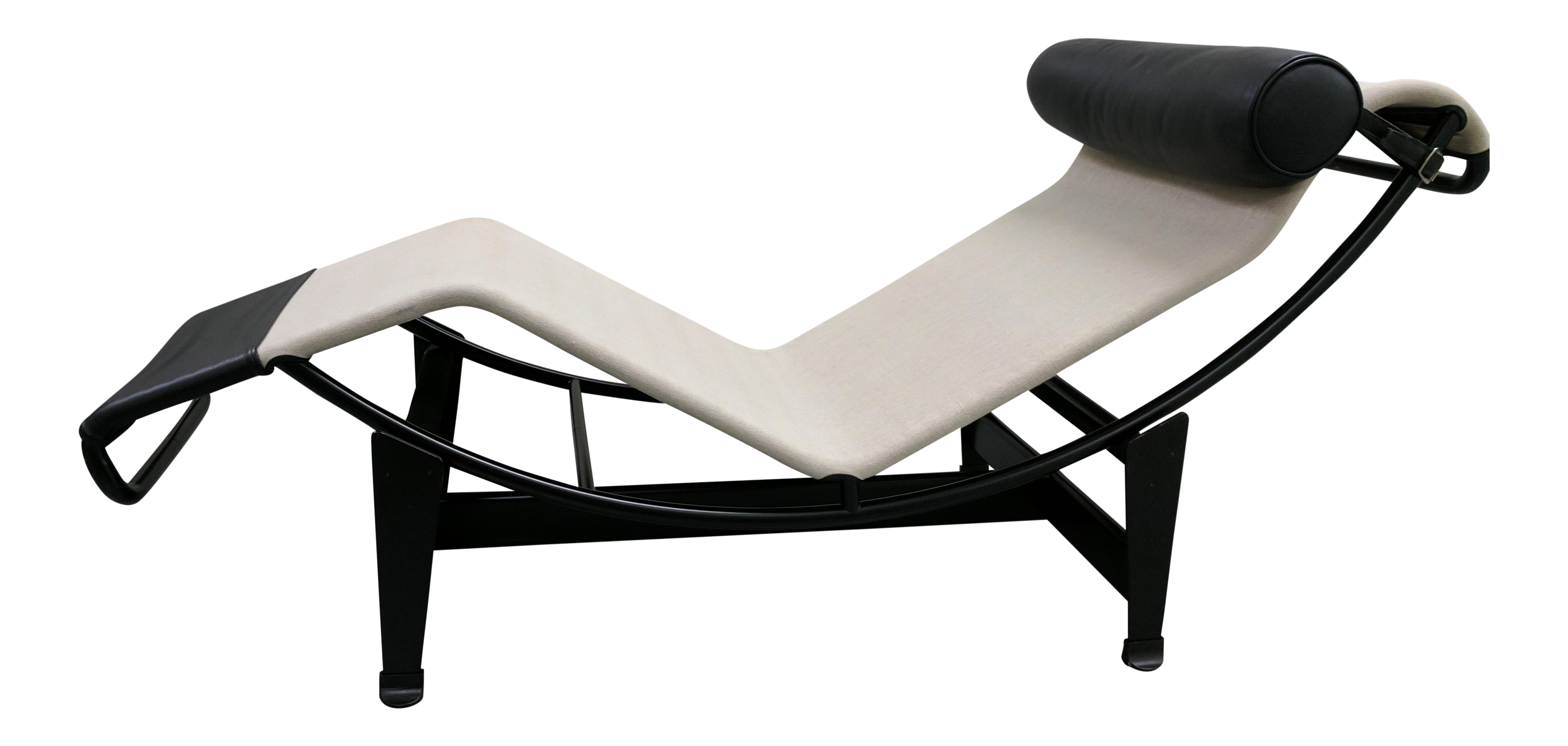 Le corbusier designed lc4 chaise longue chairish for Chaise longe le corbusier