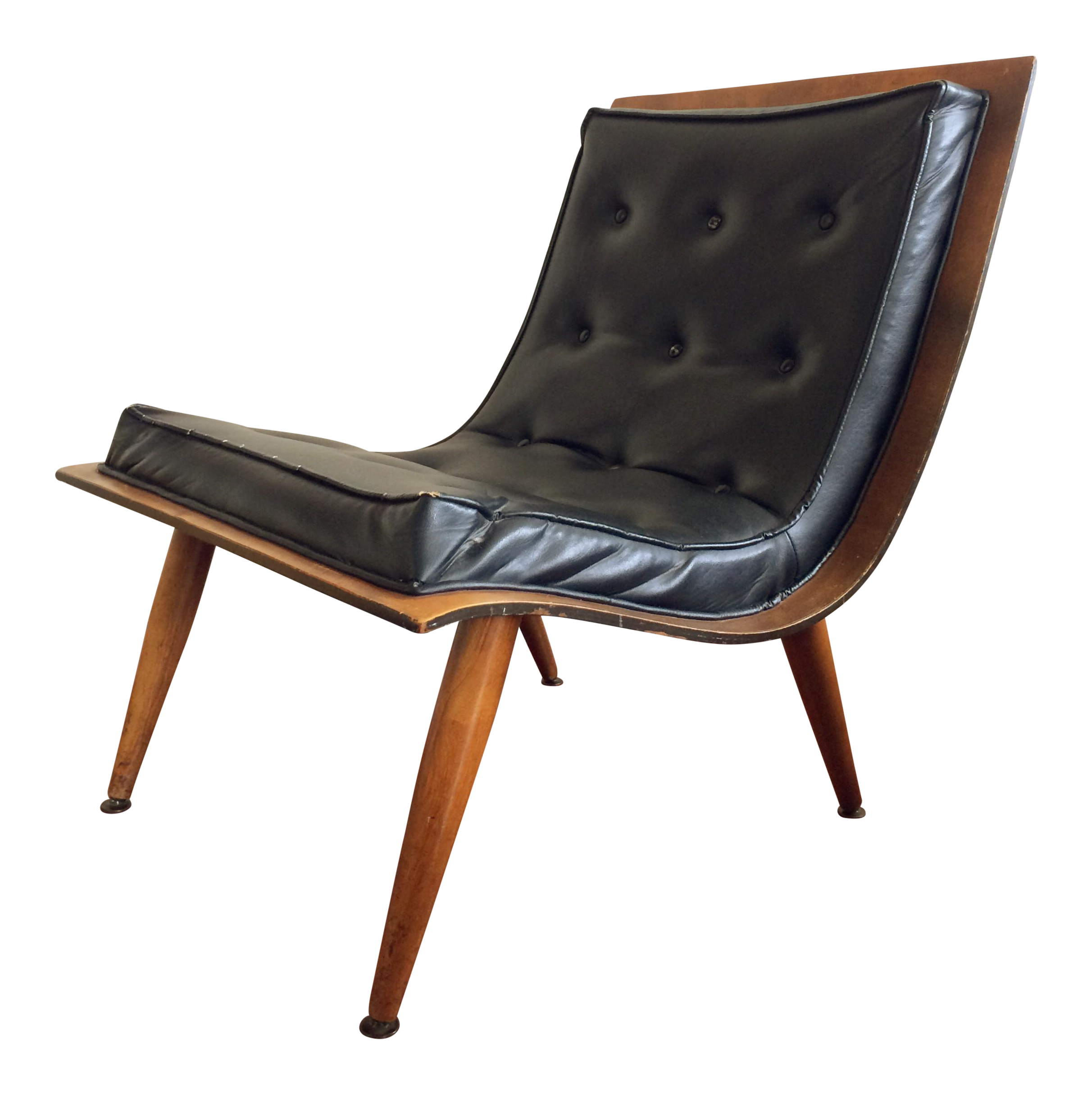 Mid Century Carter Brothers Scoop Chair Chairish