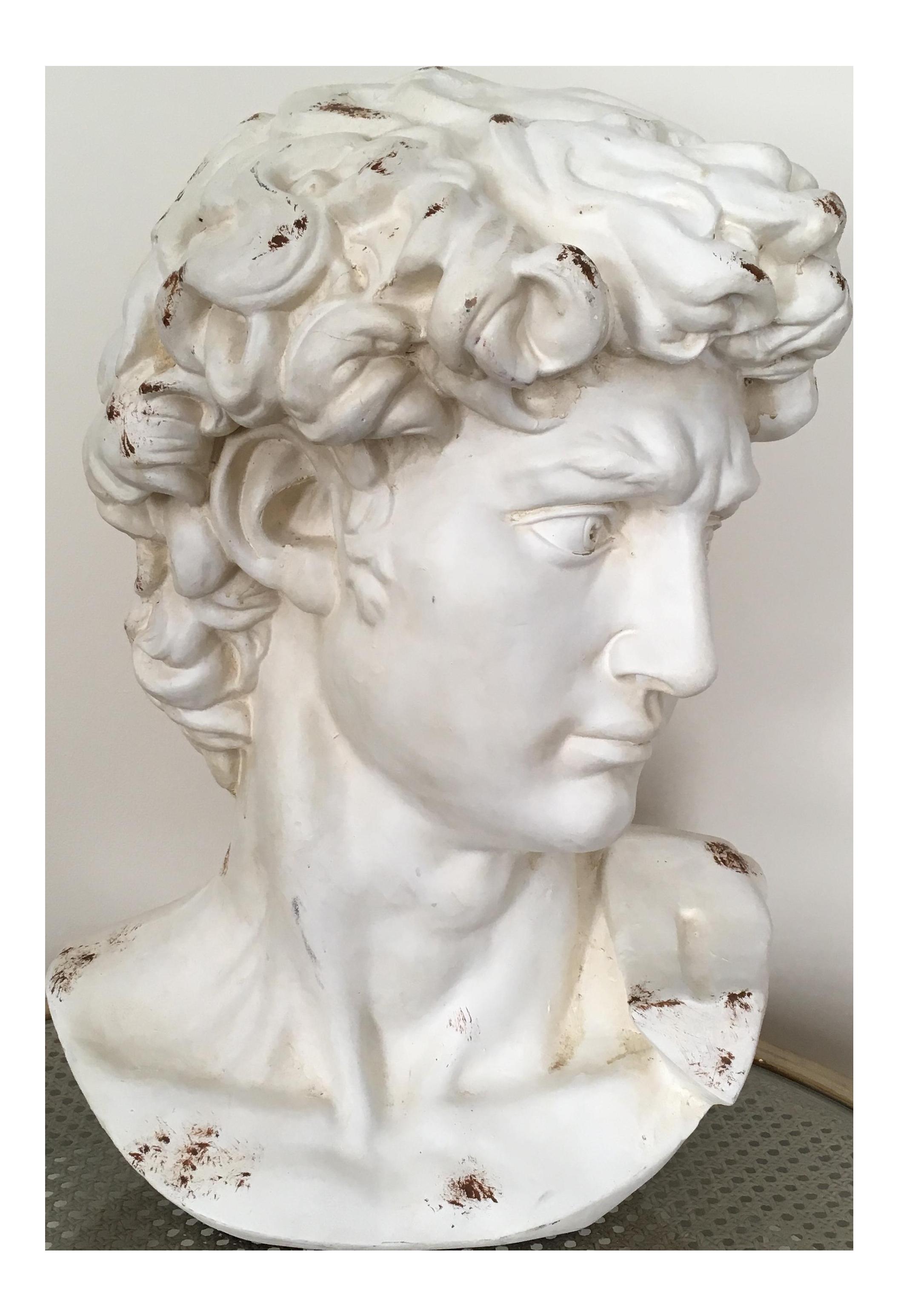 Plaster Bust Of David Chairish