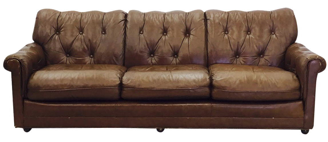 vintage leathercraft tufted chesterfield sofa chairish. Black Bedroom Furniture Sets. Home Design Ideas