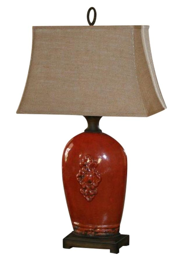 Large Tuscan Red Table Lamp