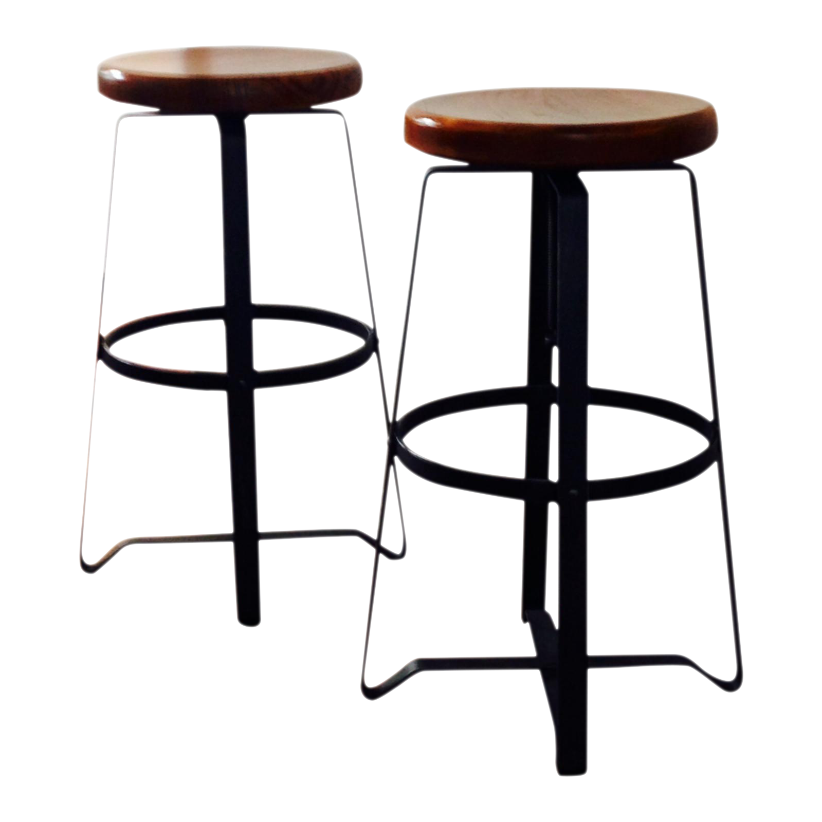 West Elm Adjustable Bar Stools A Pair Chairish