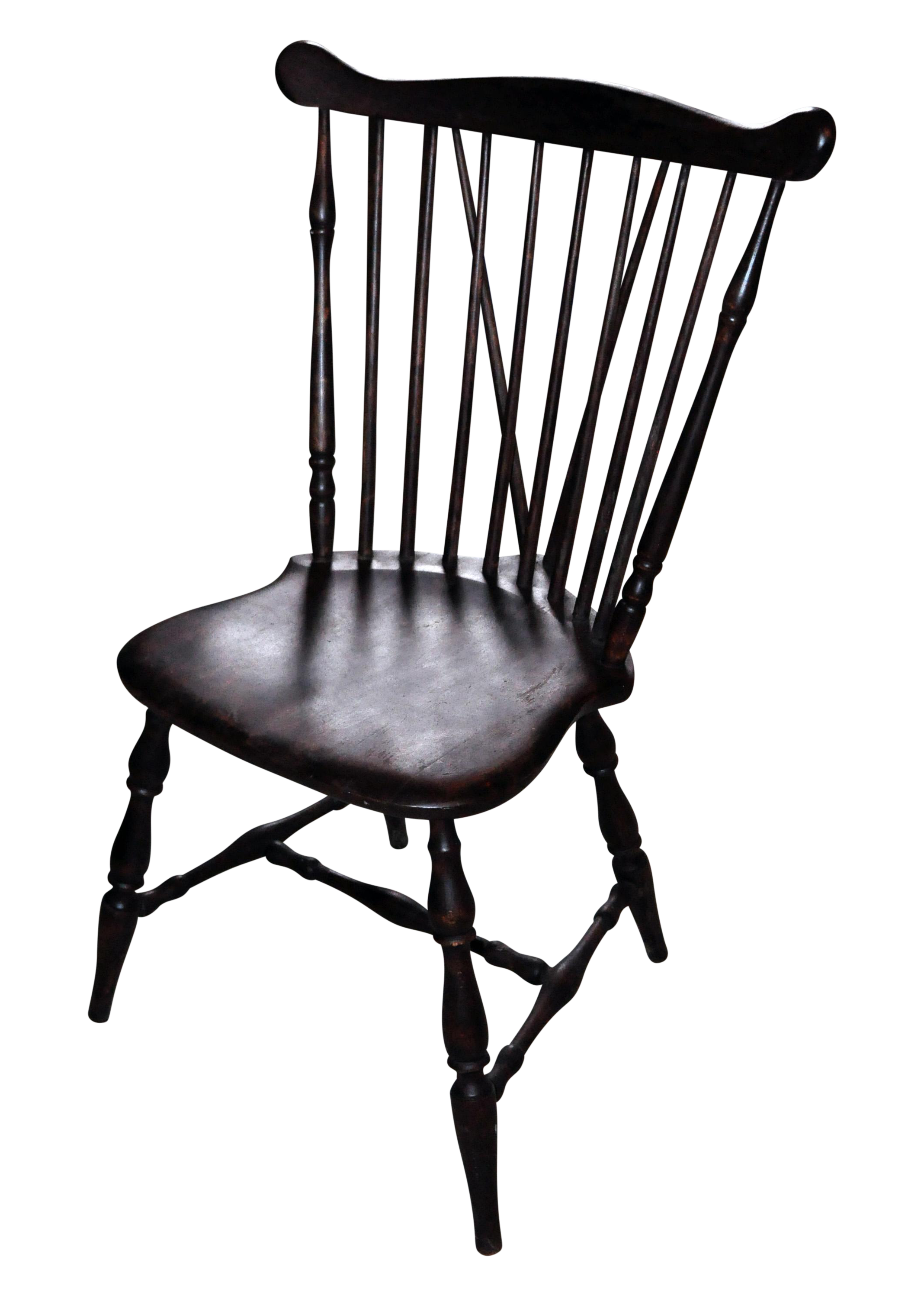Antique Windsor Wood Spindle Back Dining Chair