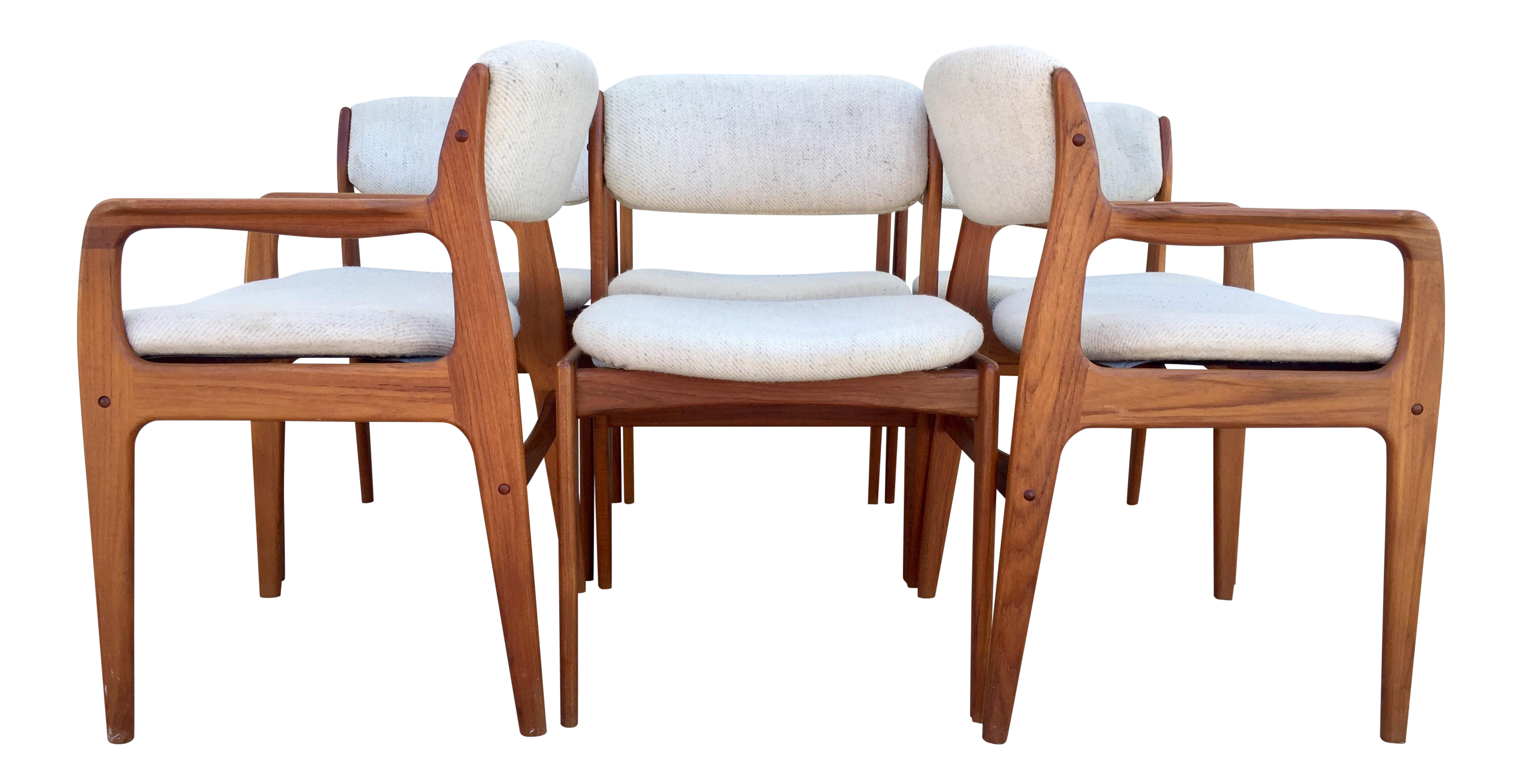Mid Century Benny Linden Dining Chairs 6 Chairish