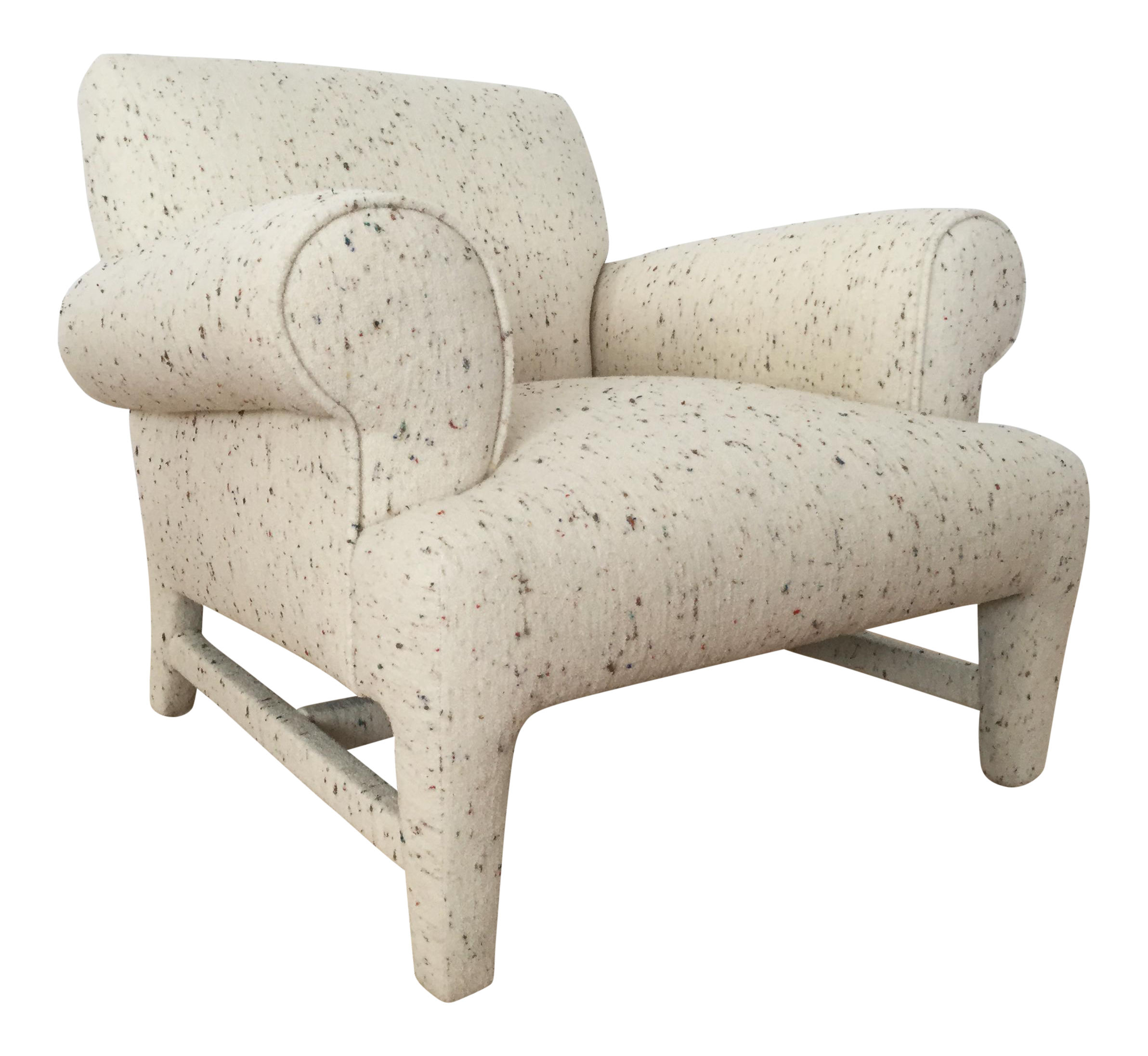 Fully upholstered post modern club chair chairish for 0co om cca 9 source table