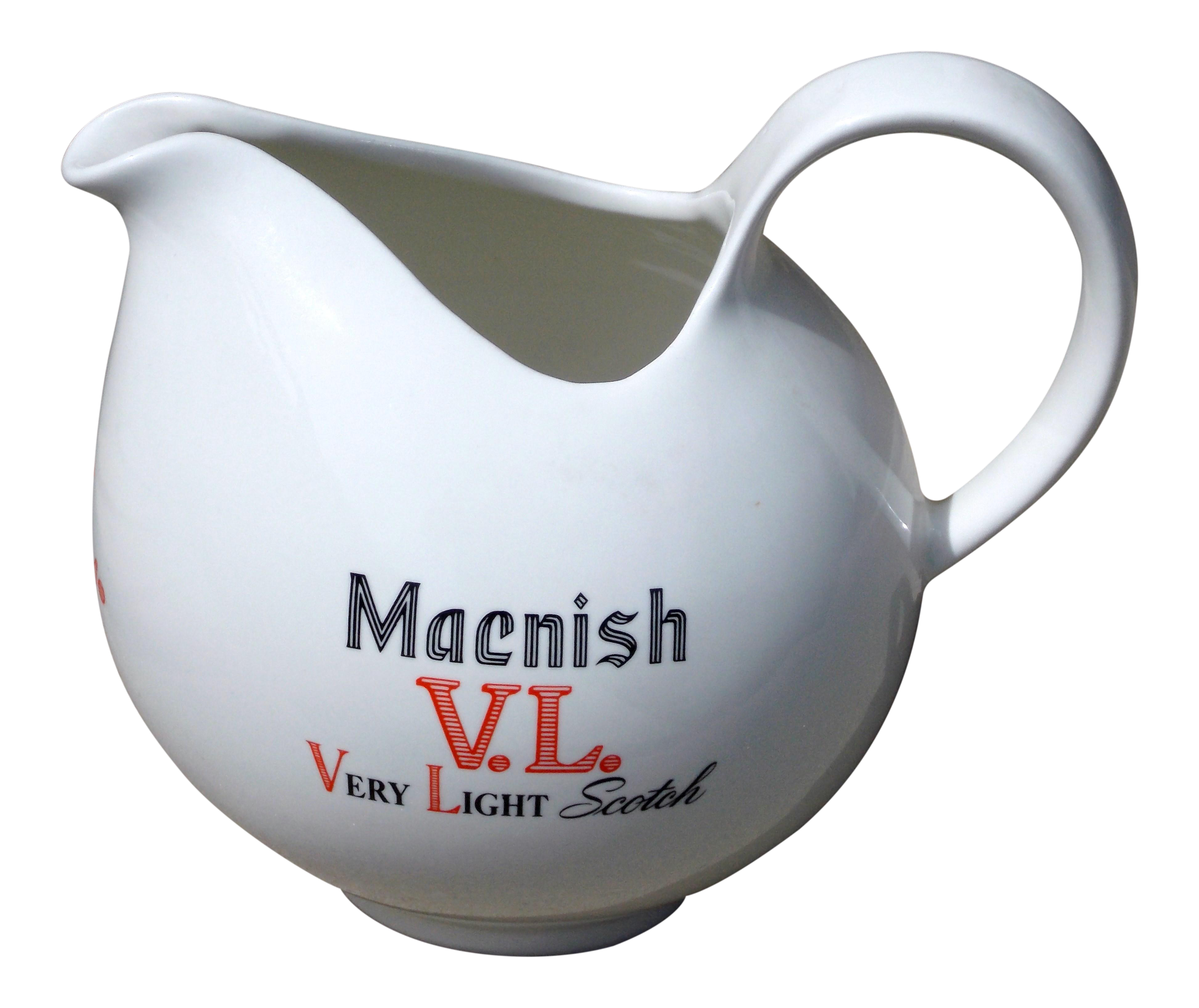 Vintage Eva Zeisel Macnish V L Scotch Whiskey Pitcher Chairish