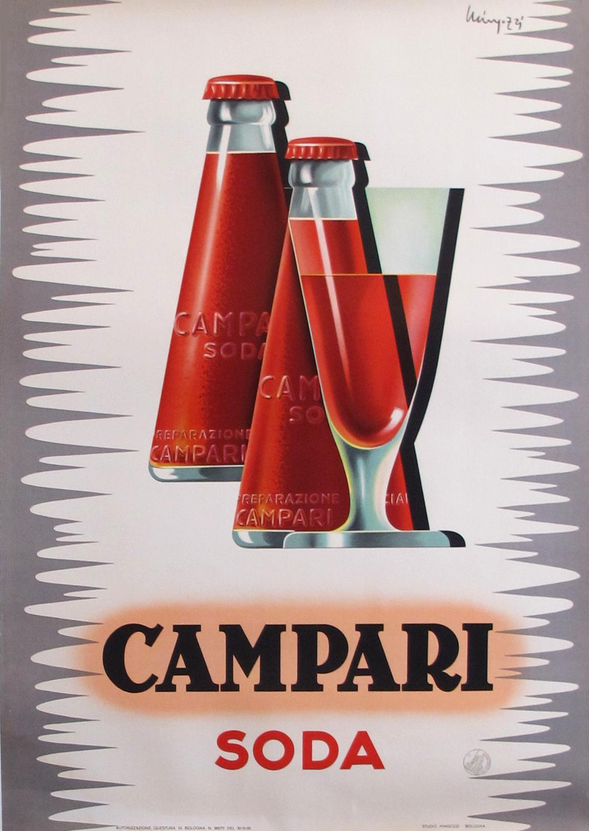 1950s Art Deco Italian Campari Soda Poster Chairish