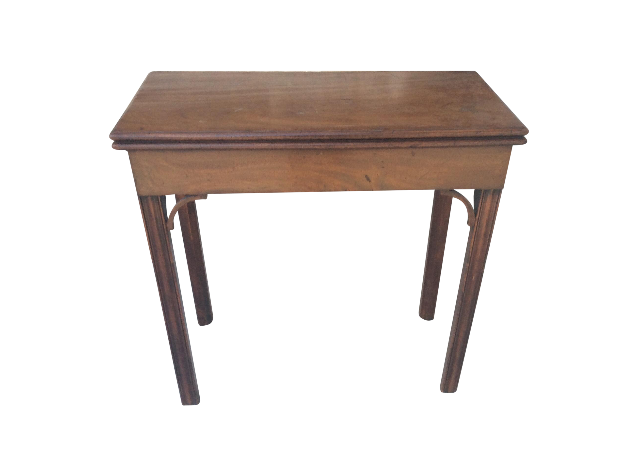 Flip top side table - Image Of Antique English Mahogany Flip Top Side Table