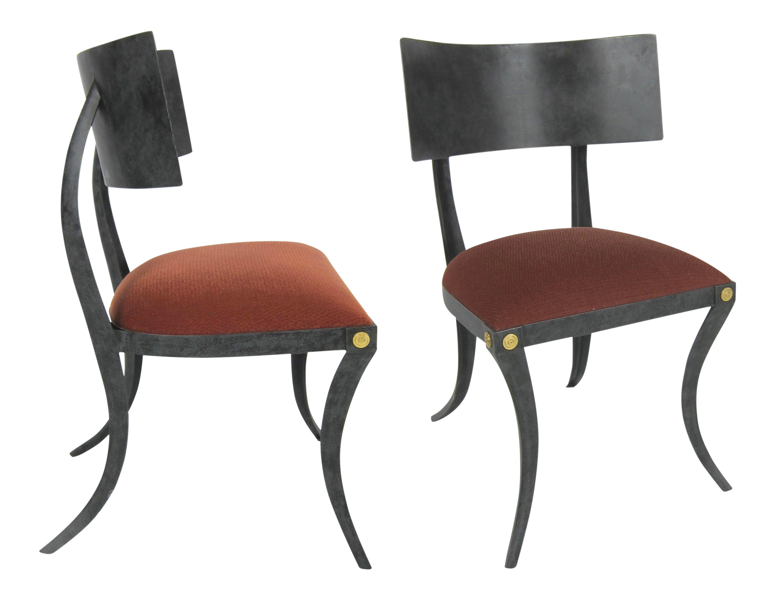 Klismos chair drawing - Lovely Set Of Six Steel Klismos Chairs By Ched Berenguer Topacio Decaso