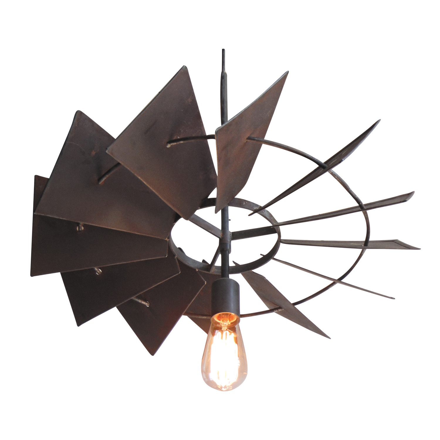 Vintage Rustic Windmill Pendant Light Chairish