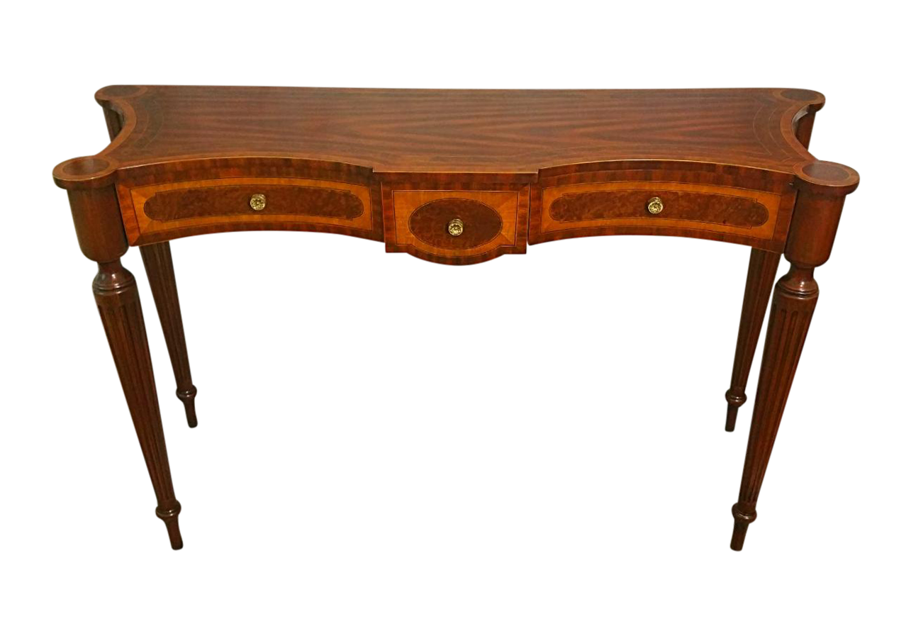Maitland Smith Inlaid Hand Carved Console Table Chairish