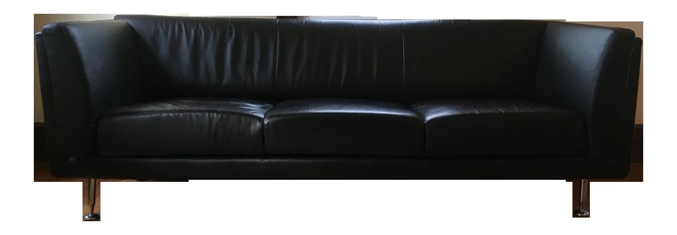 Mid Century Modern Leather Sofa