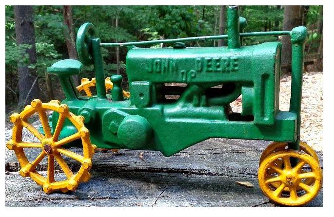 John Deere Ottoman : Vintage cast iron john deere tractor chairish