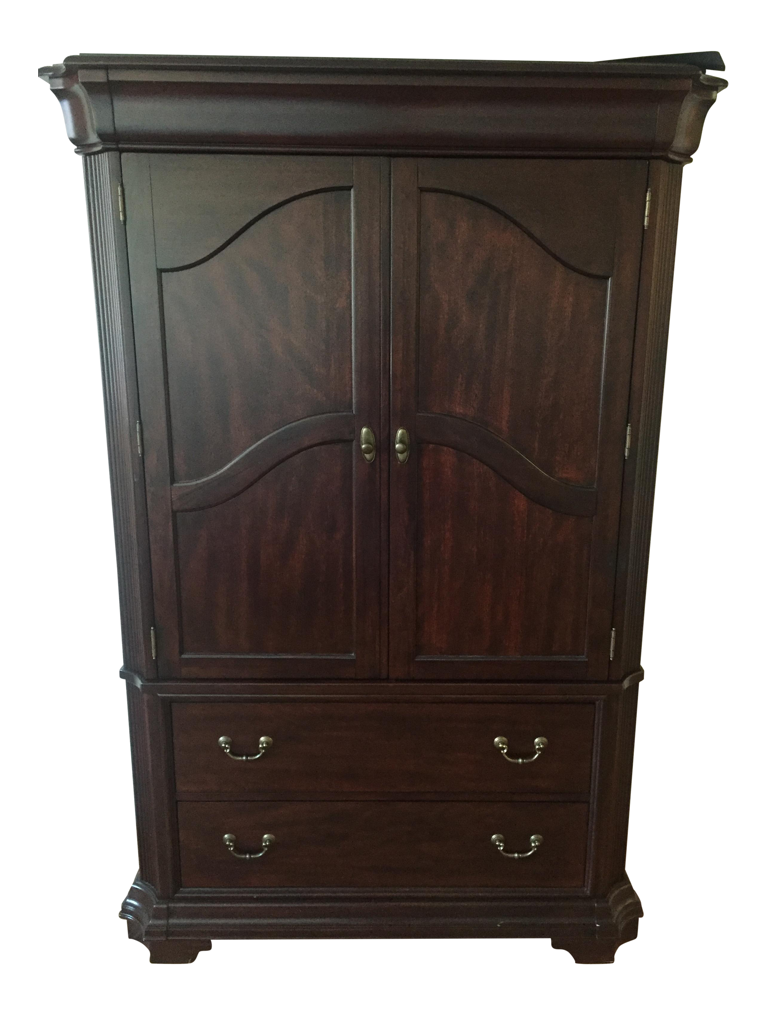 Broyhill cherry wood armoire chairish
