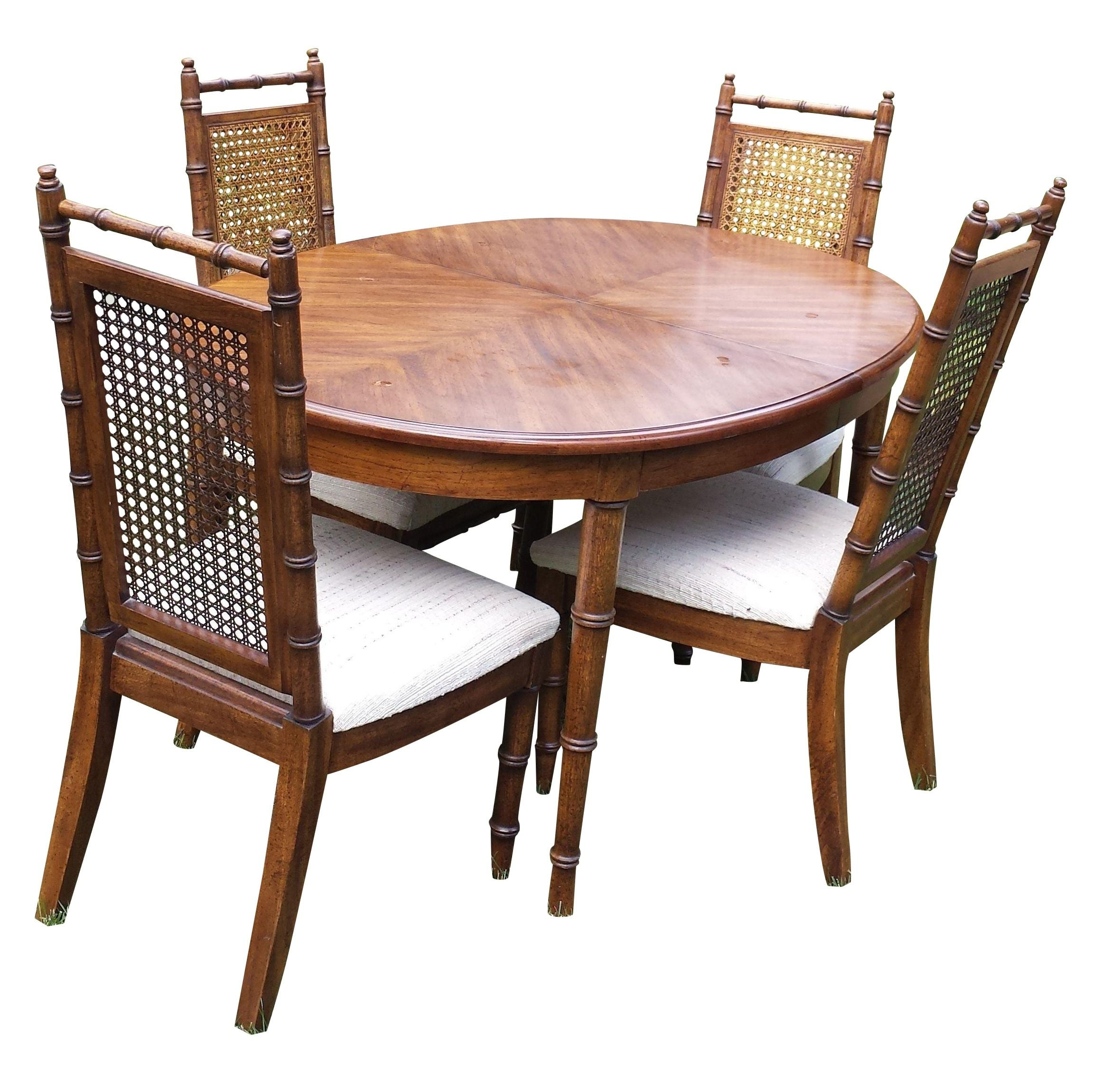 American Of Martinsville Faux Bamboo Dining Set Chairish