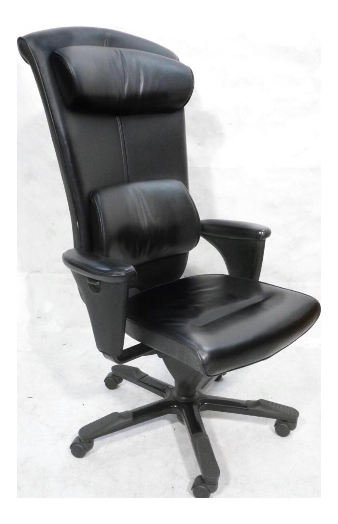 Black Leather Hag Signet Executive Chair