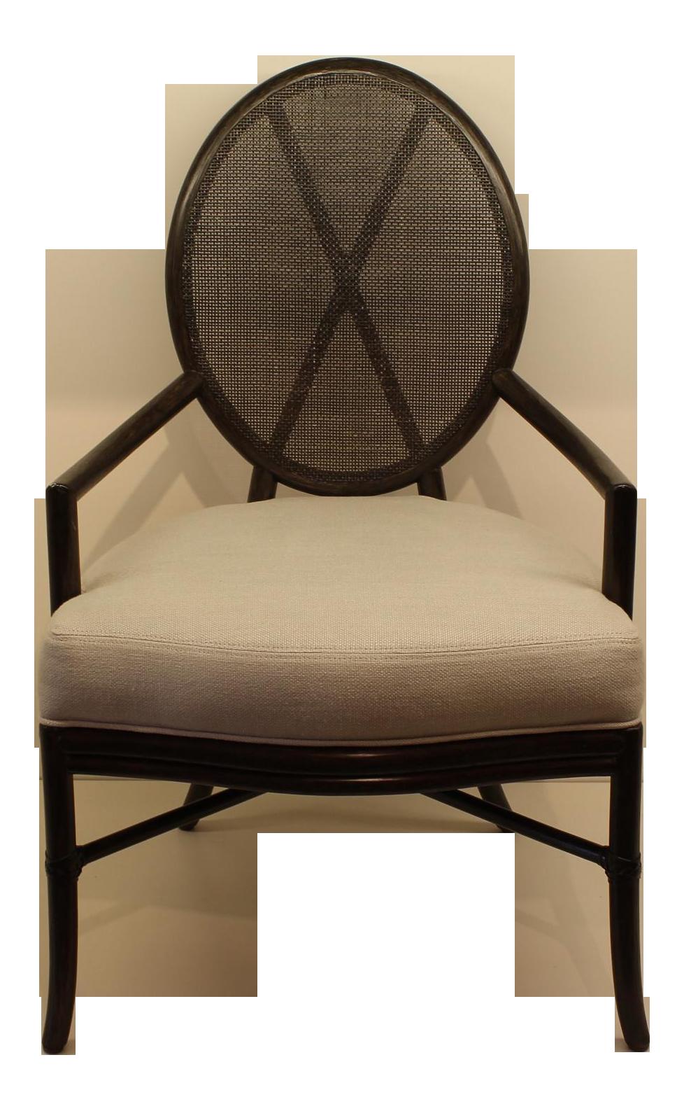 Mcguire Barbara Barry Oval X Back Chair Chairish