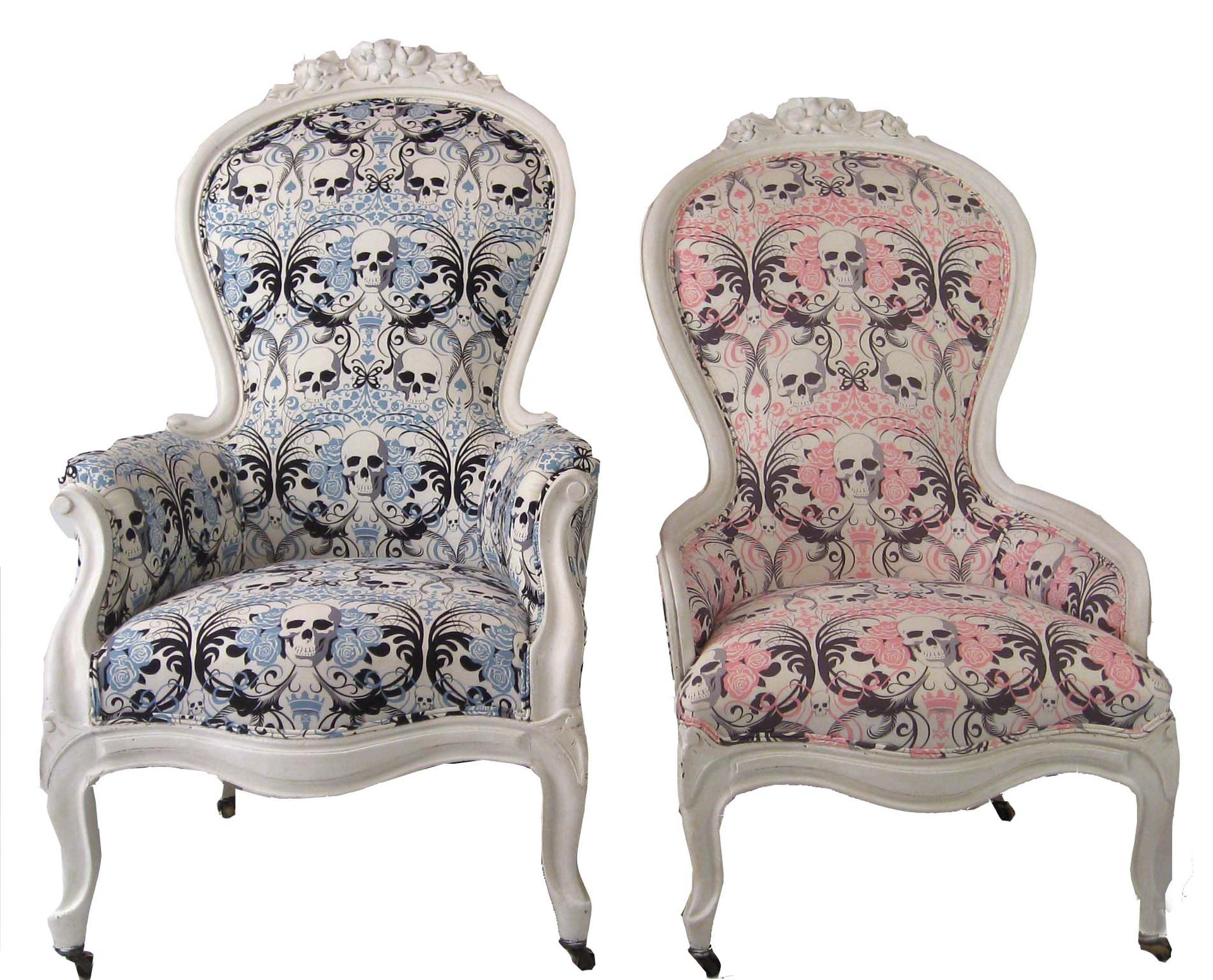 King chair with king - Image Of King Queen Victorian Skull Chairs A Pair