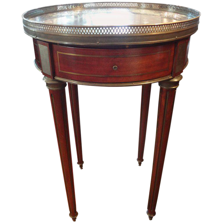 19th Century French Louis Xvi Style Walnut Bouillotte
