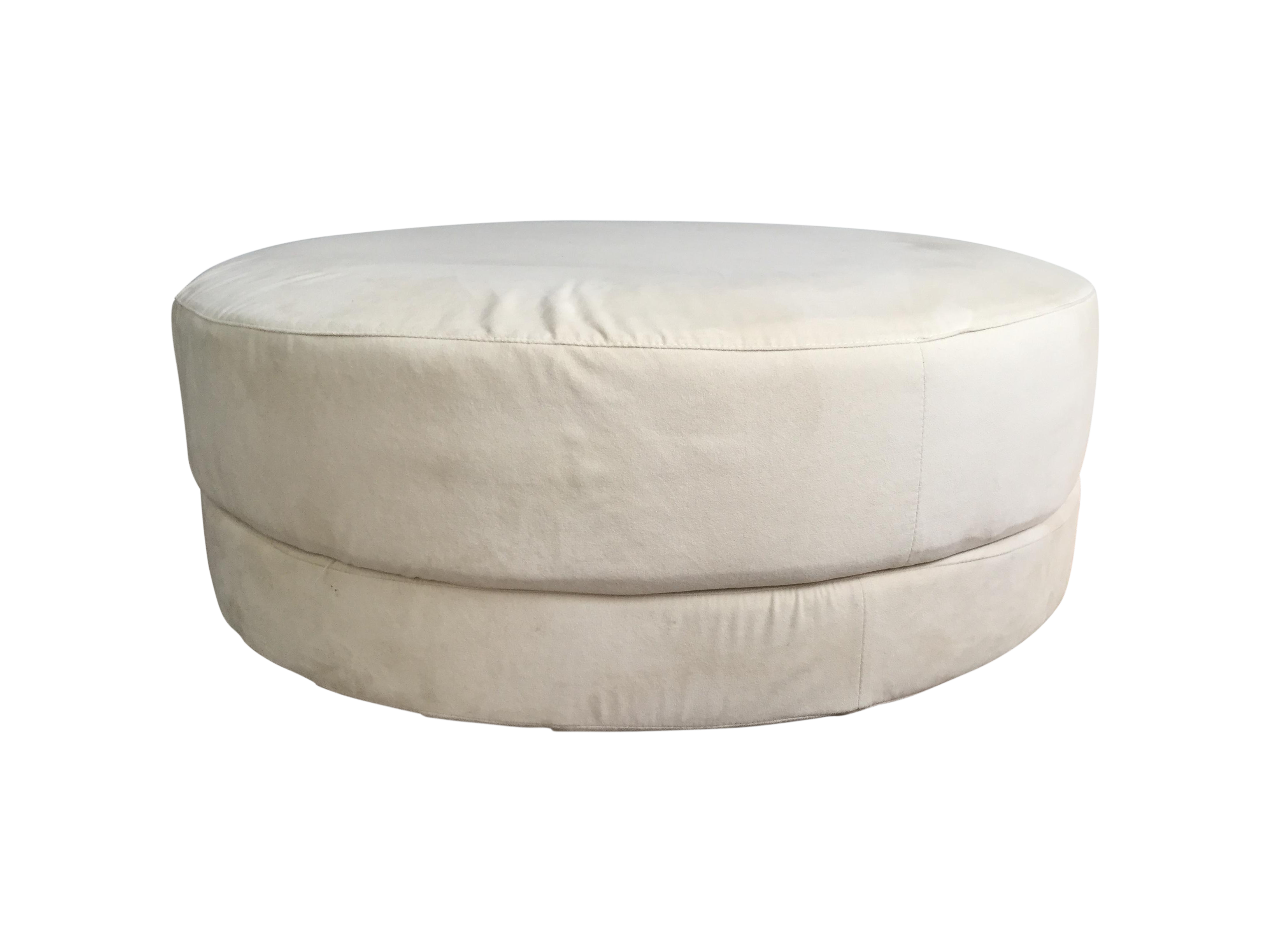 Cream Suede Ottoman Or Coffee Table Chairish