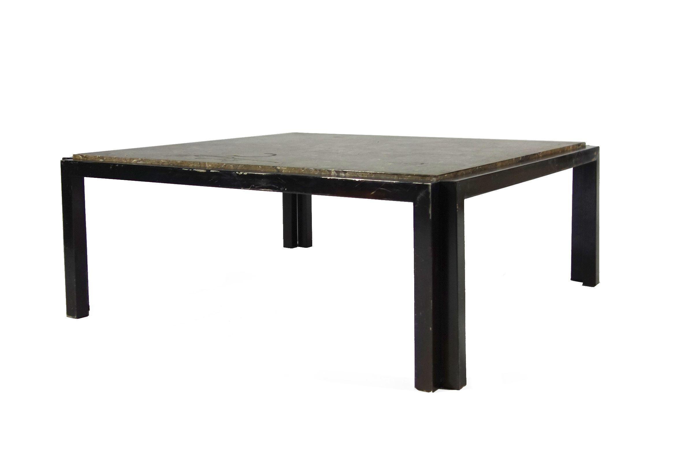 Stone top coffee table chairish Stone top coffee table