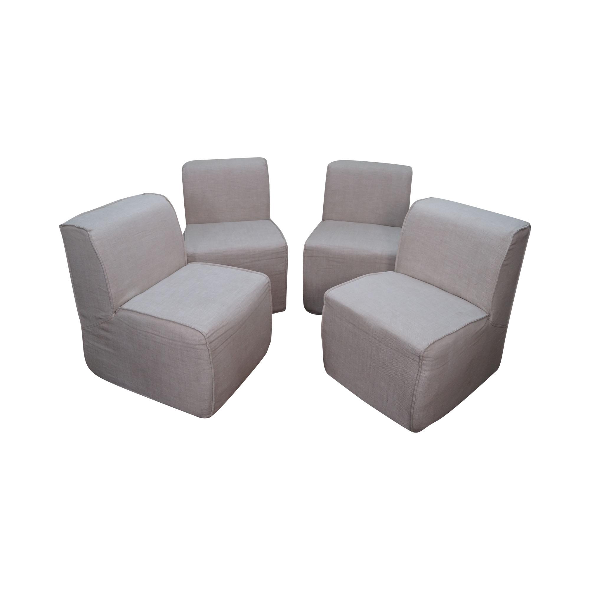 Restoration Hardware Bruno Side Chairs Set of 4