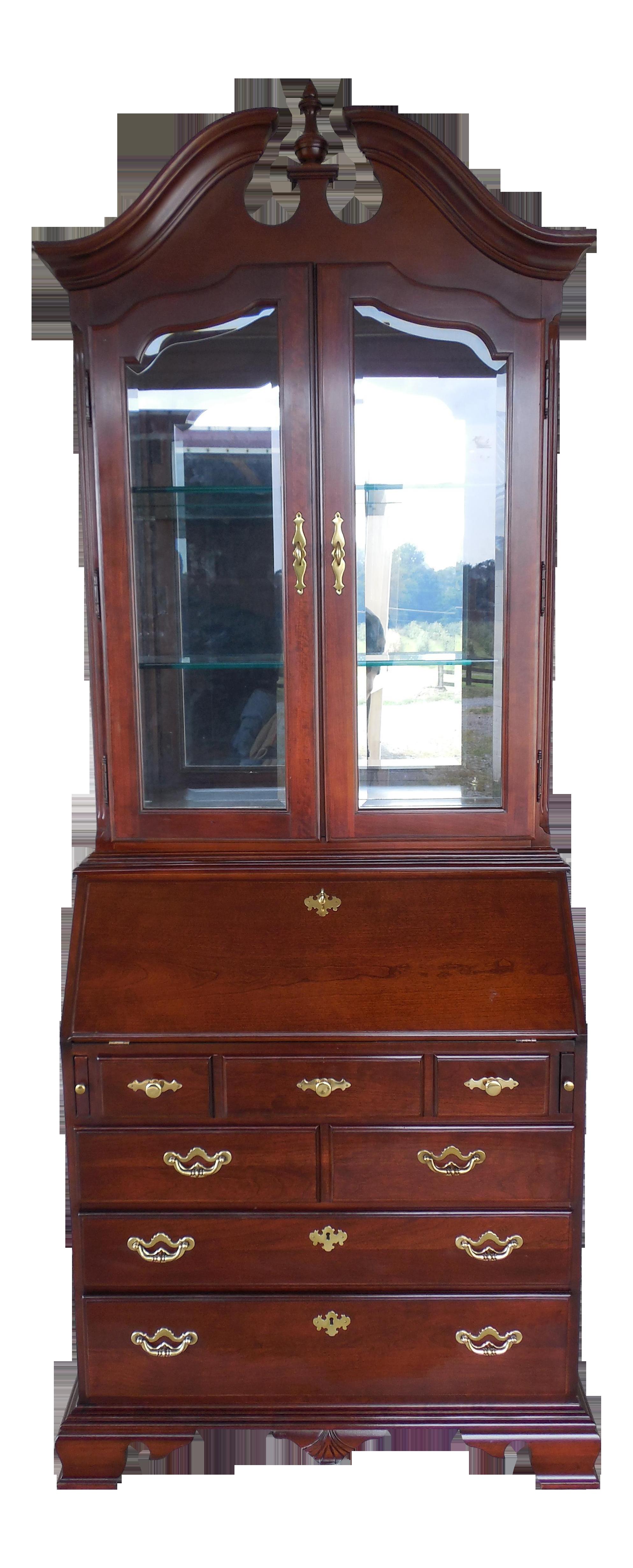 Thomasville Collectors Cherry Chippendale Secretary Desk