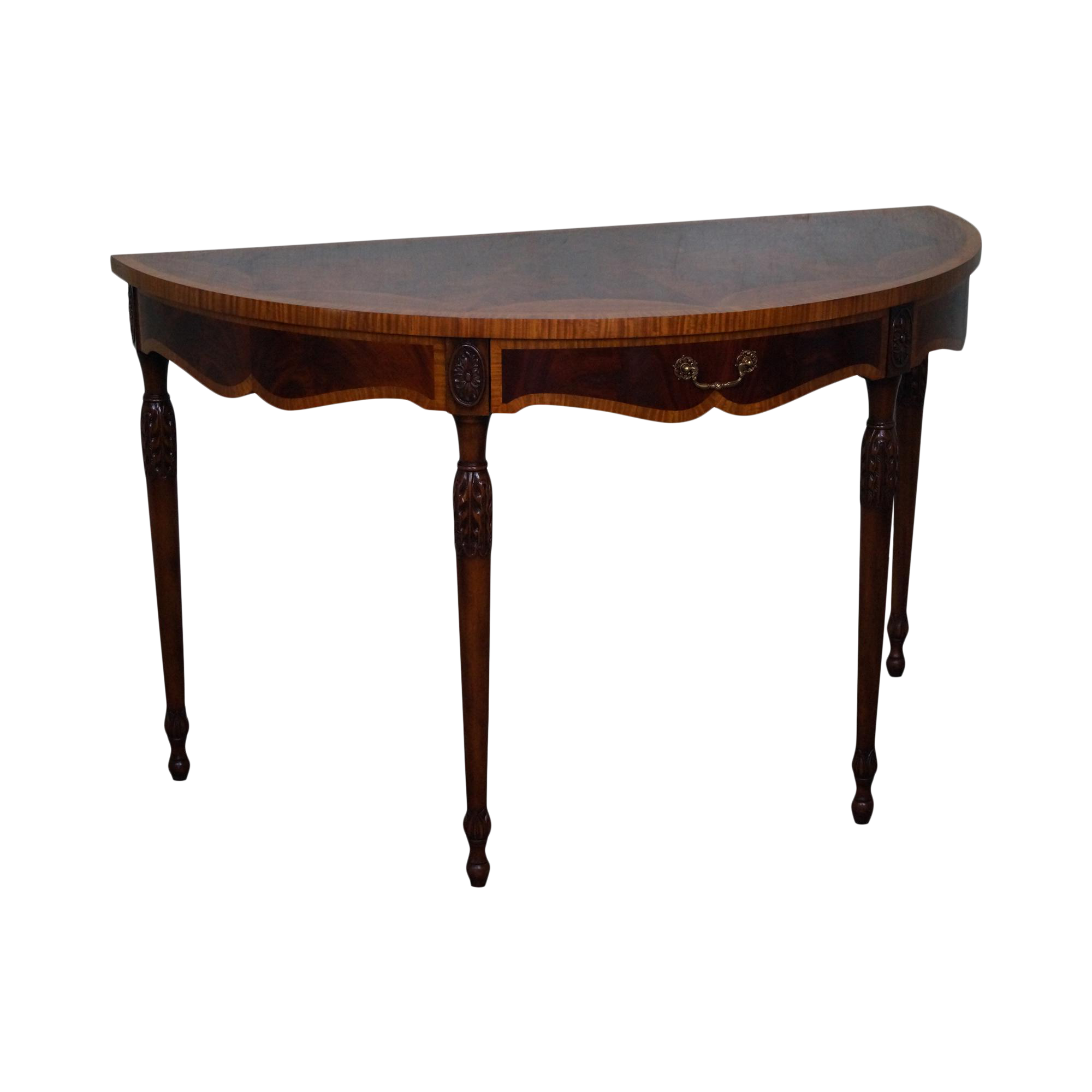 Maitland smith flame mahogany demilune console table chairish geotapseo Images
