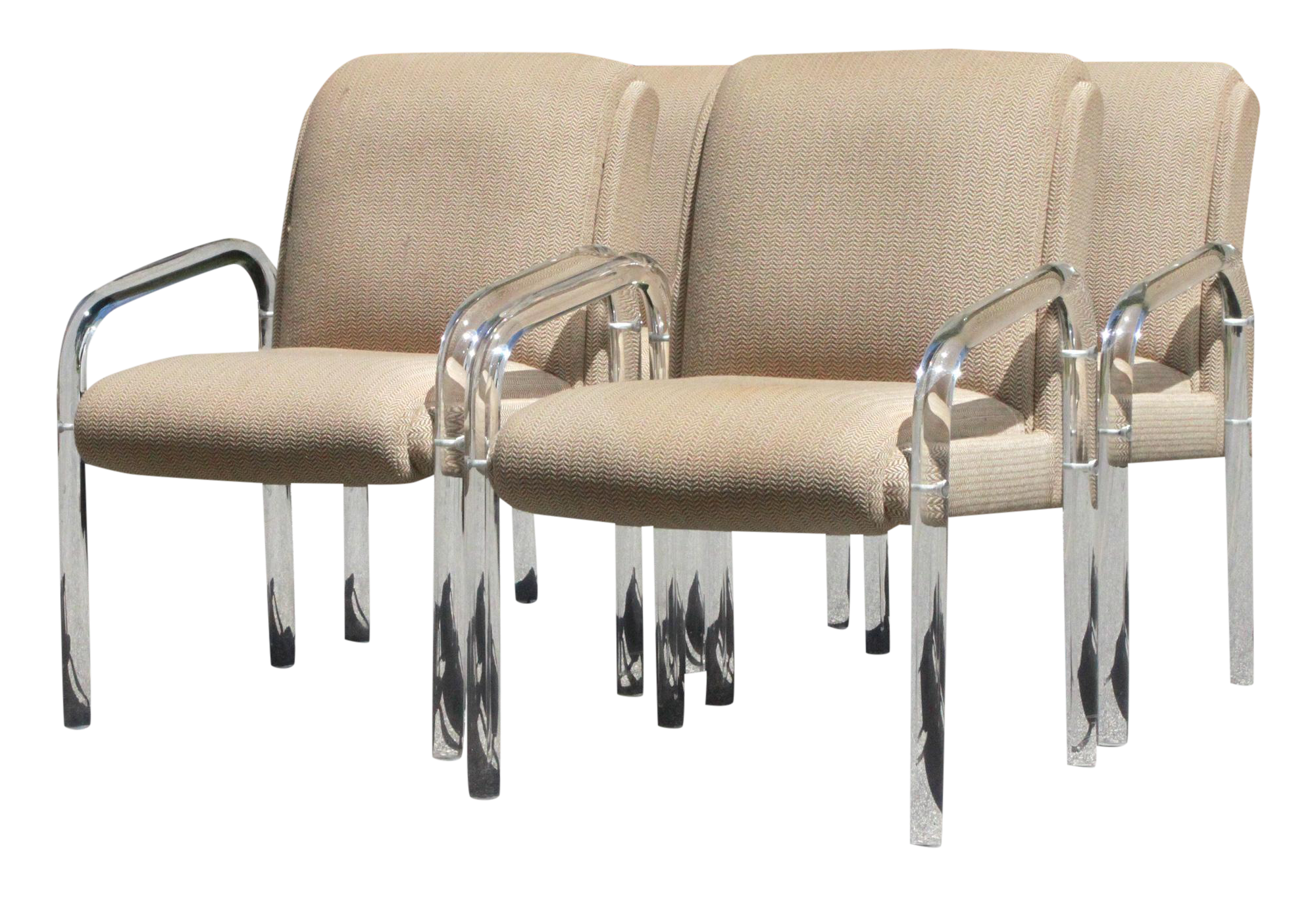Mid Century Modern Lion in Frost Lucite Dining Chairs Set of 4