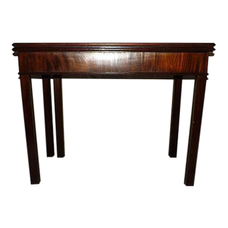 18th century flip top console games table chairish for Table th rotate