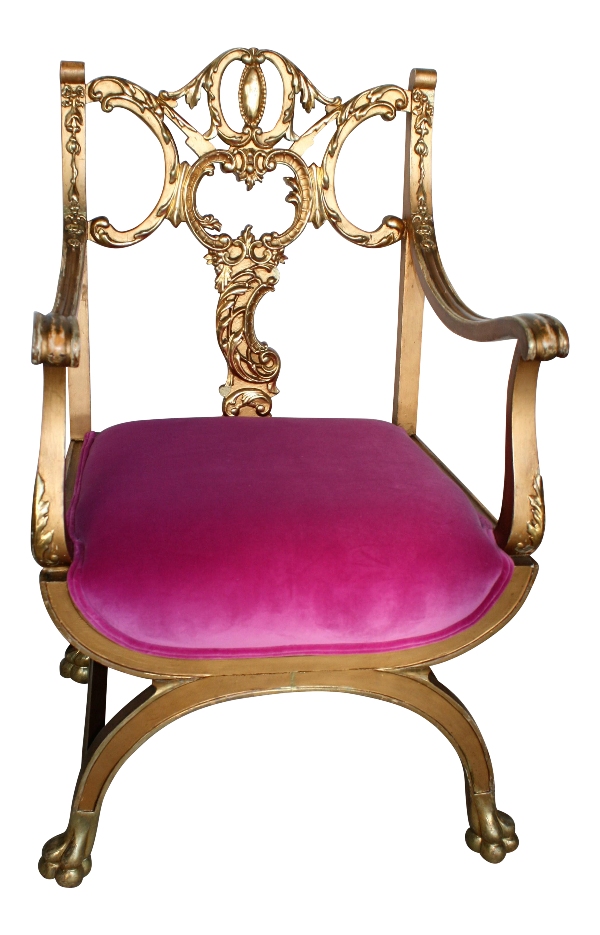 Antique princess chair - Image Of Pink And Gold Renaissance Style Princess Chair