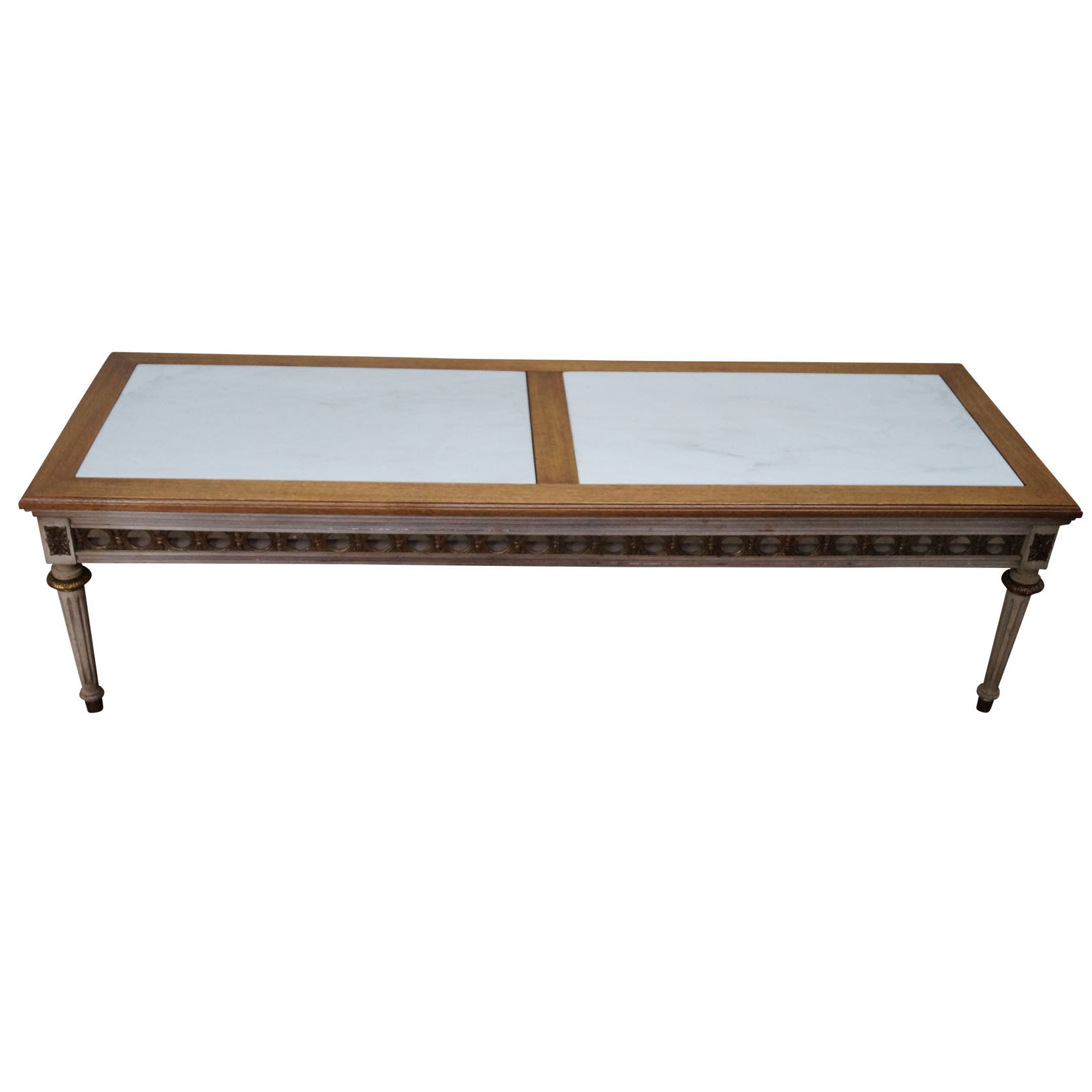 French Louis Xvi Style Marble Top Coffee Table Chairish