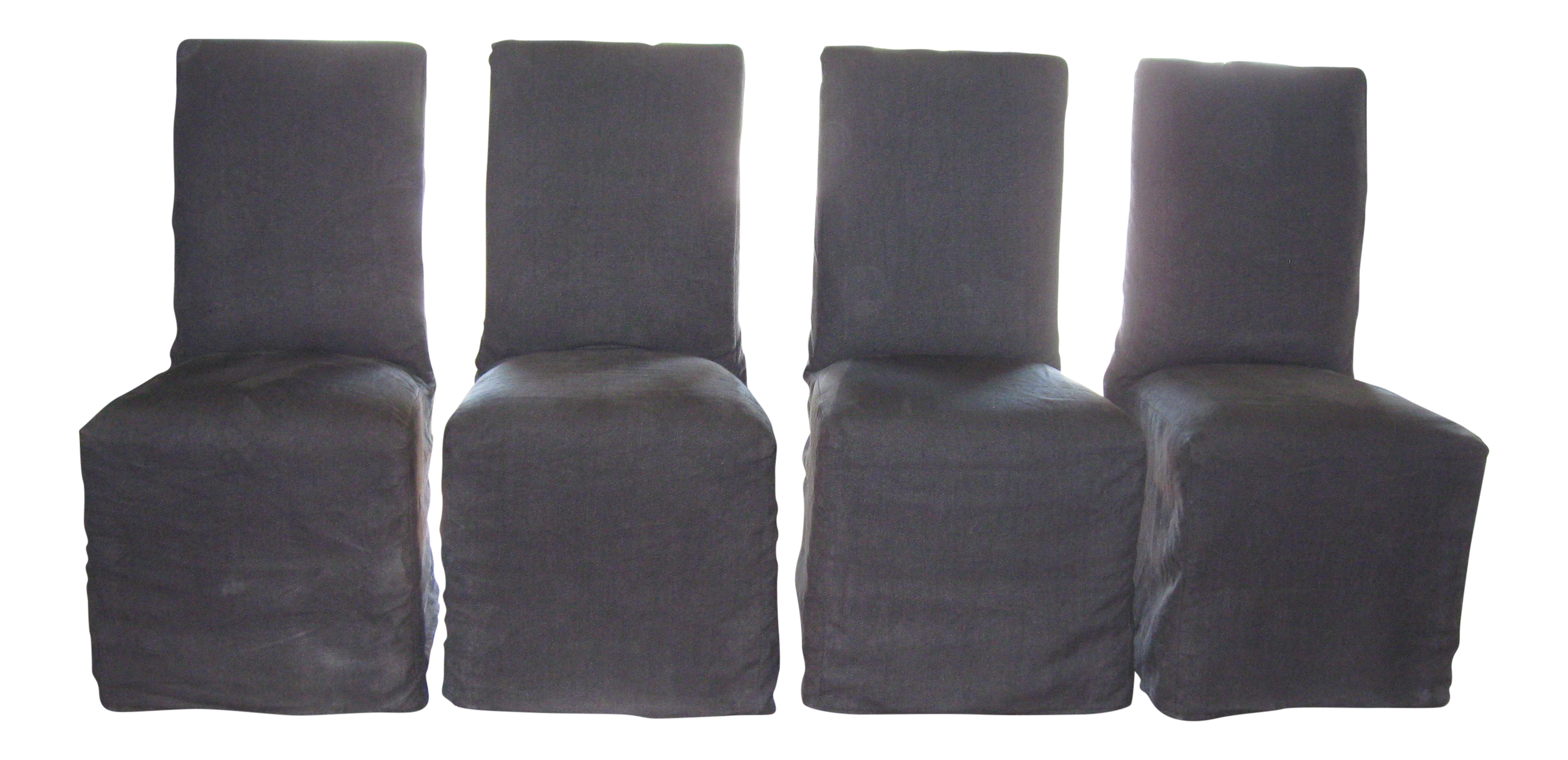 Parsons Linen Slipcovered Dining Chairs S 4