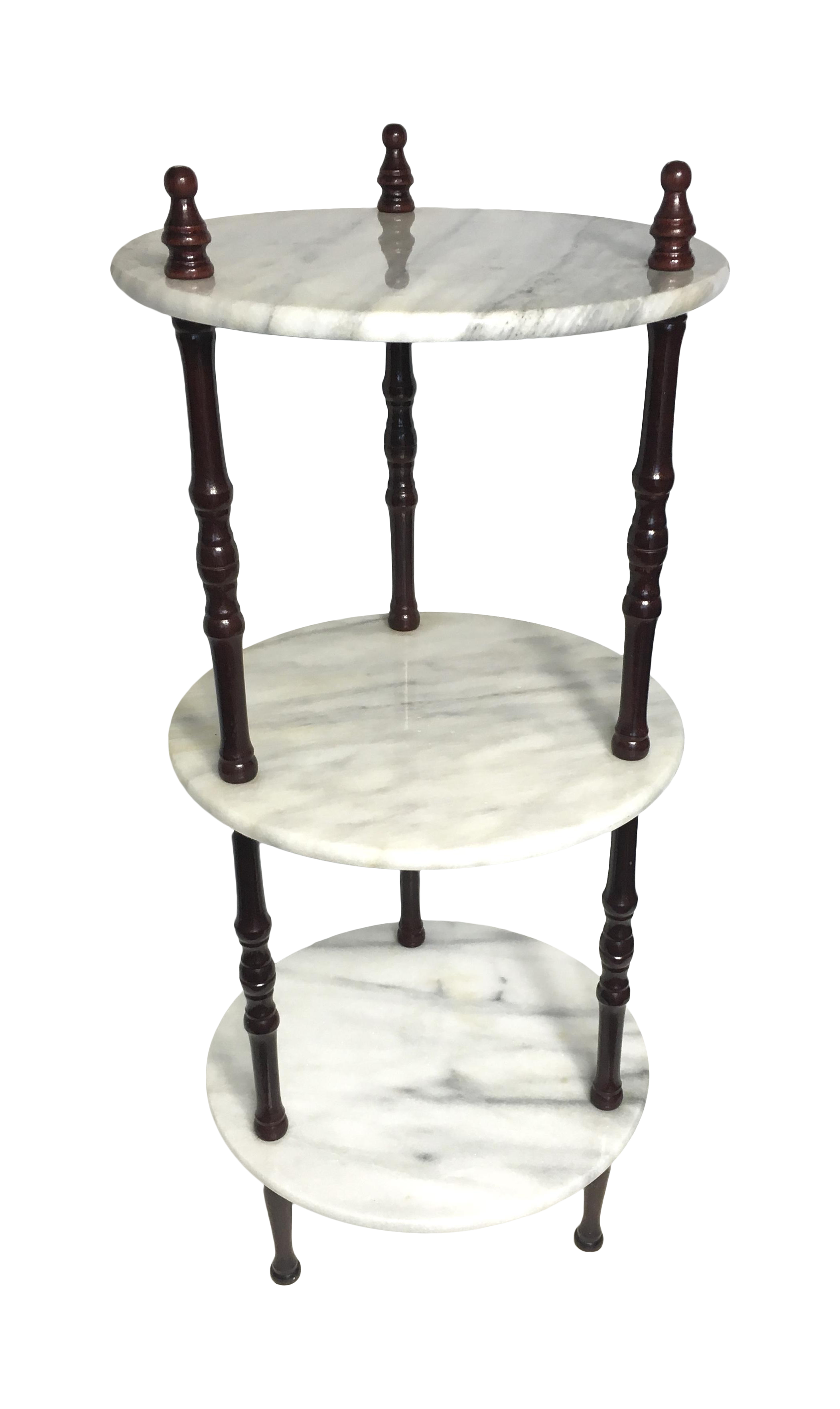 midcentury 3tier marble table plant stand chairish