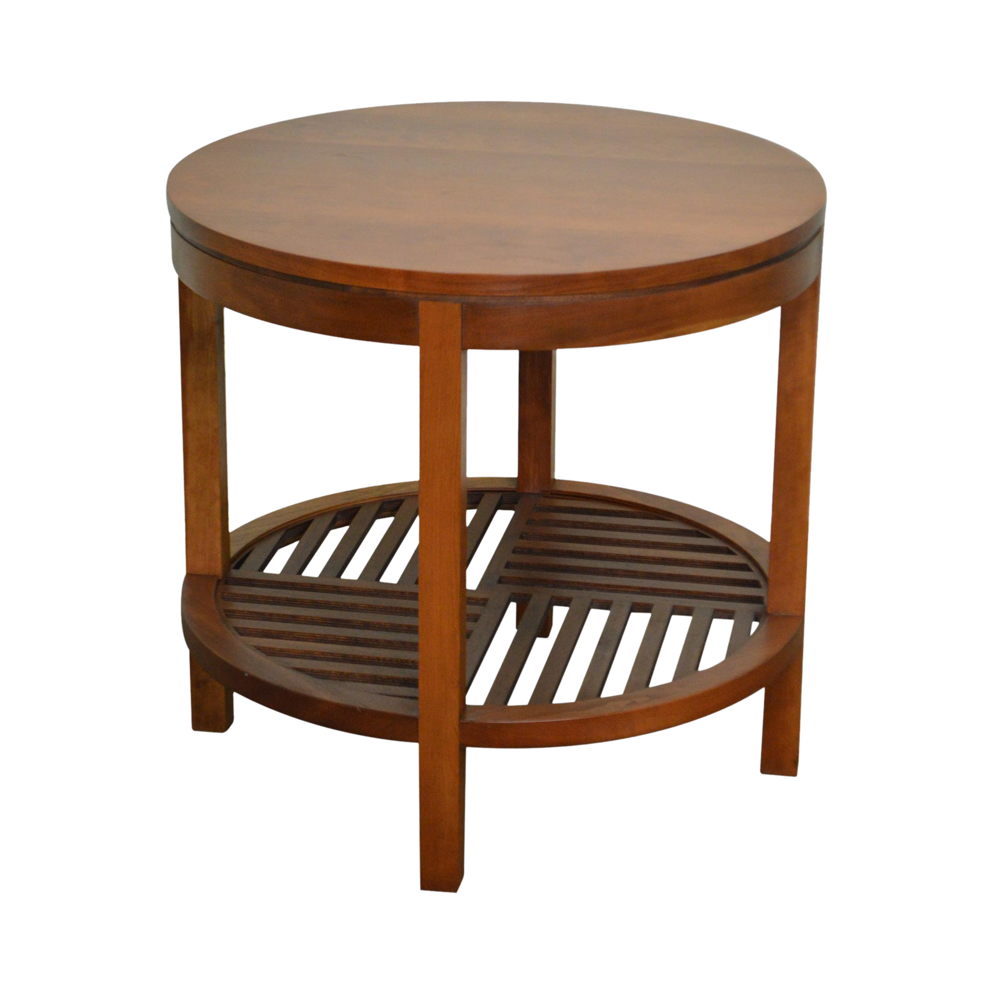 Stickley metropolitan collection cherry walnut round lamp table stickley metropolitan collection cherry walnut round lamp table chairish geotapseo Image collections