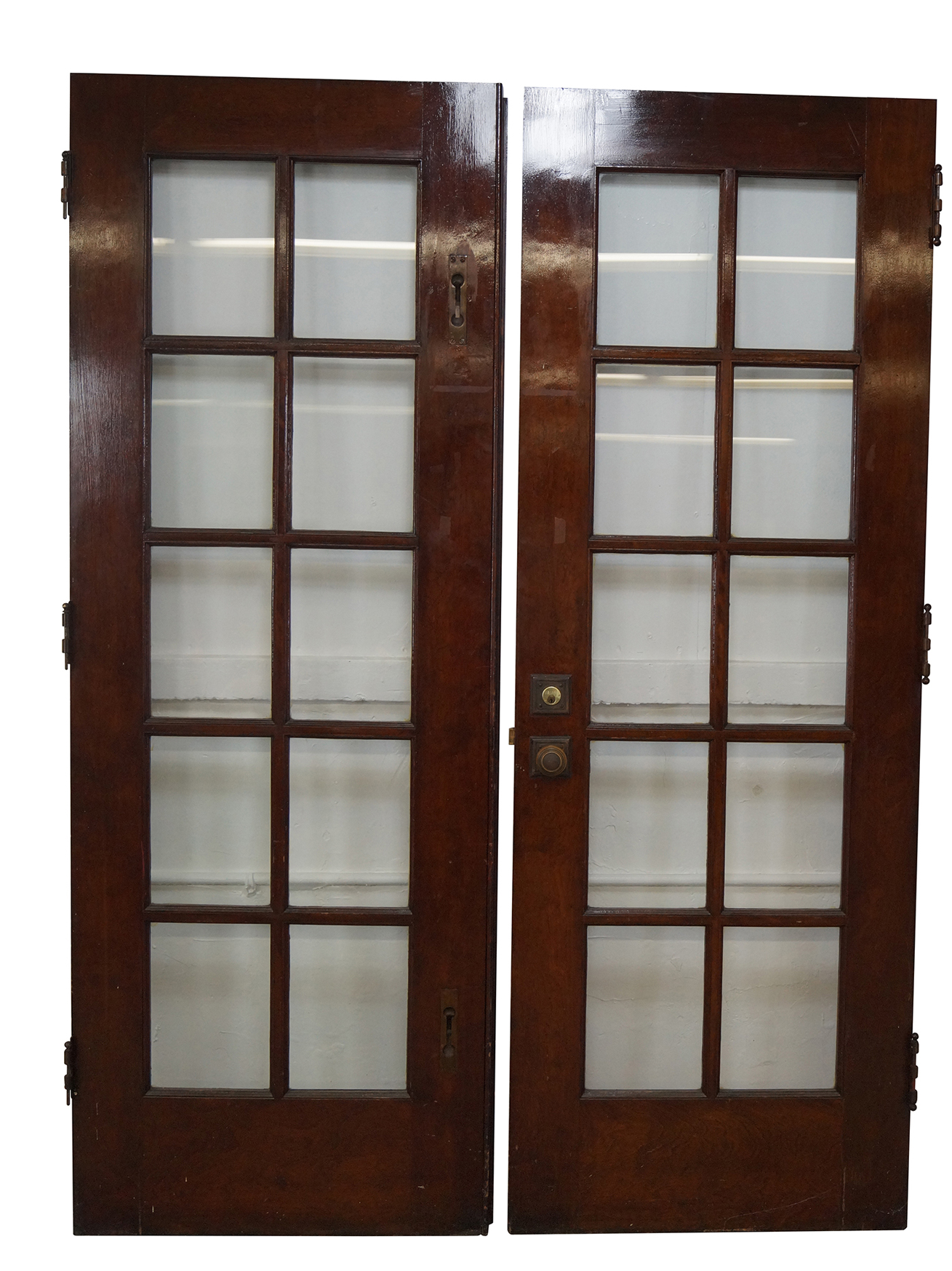 1747 #351C14 Vintage Mahogany Double French Doors A Pair Chairish wallpaper 3ft French Doors 46651309