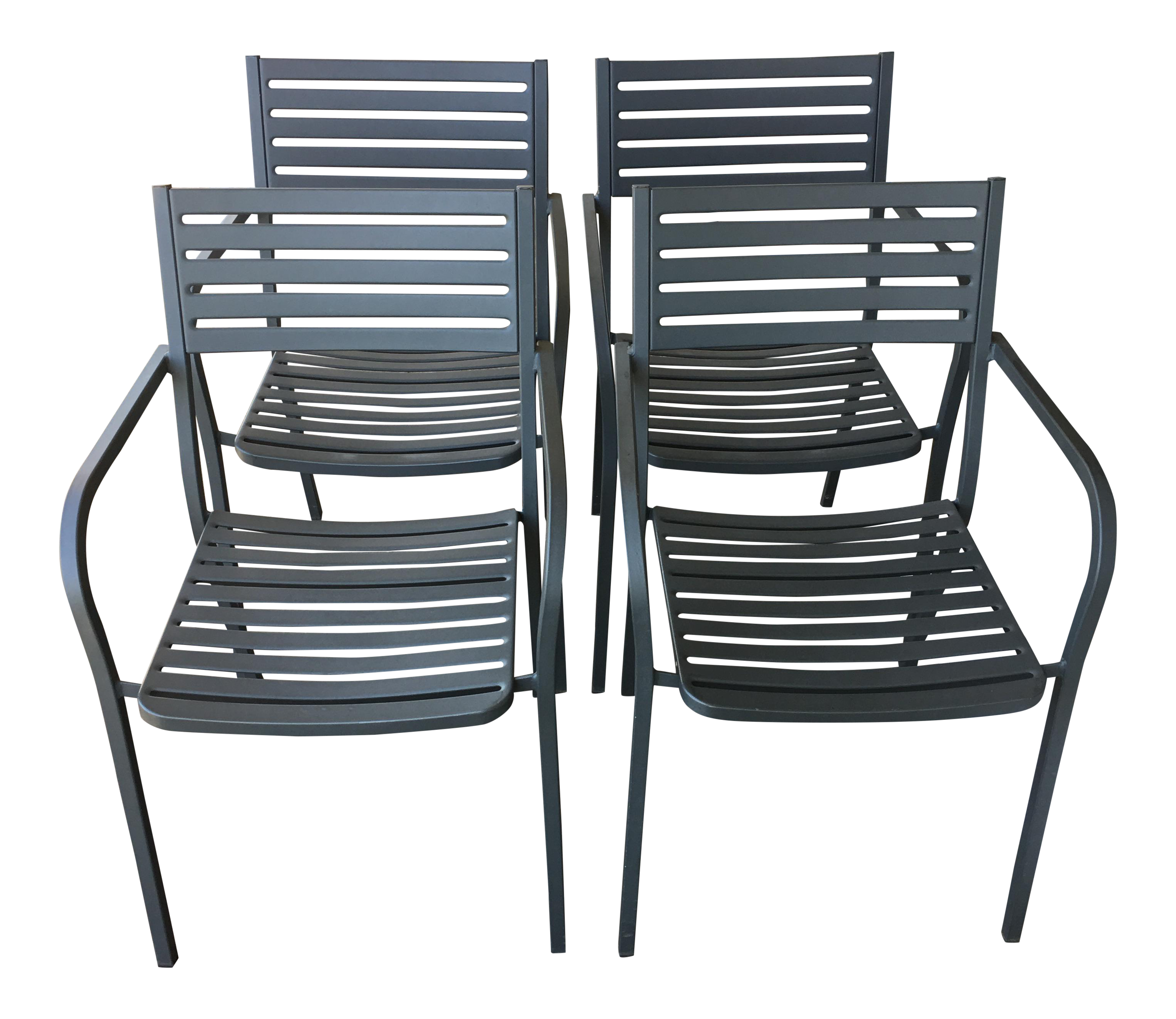 emu segno stackable outdoor dining chairs set of 4 chairish