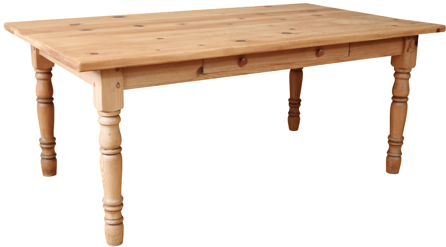 Vintage Farm House Solid Wood Dining Table With Drawer: dining table with drawer