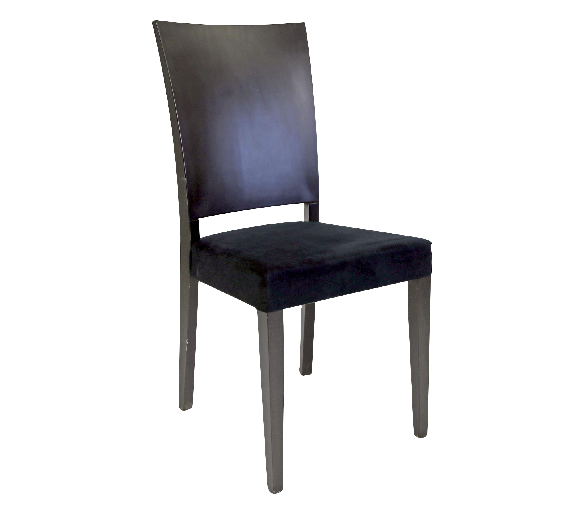 black upholstered contemporary dining chair chairish. Black Bedroom Furniture Sets. Home Design Ideas