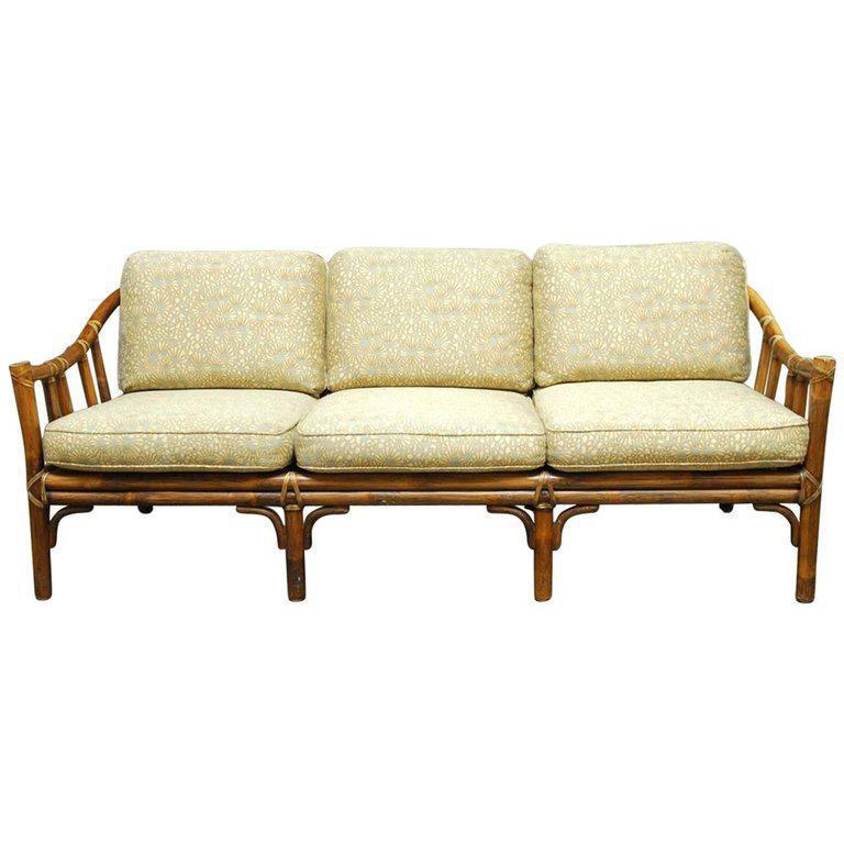 Organic Modern Bamboo Rattan Sofa By Mcguire Chairish