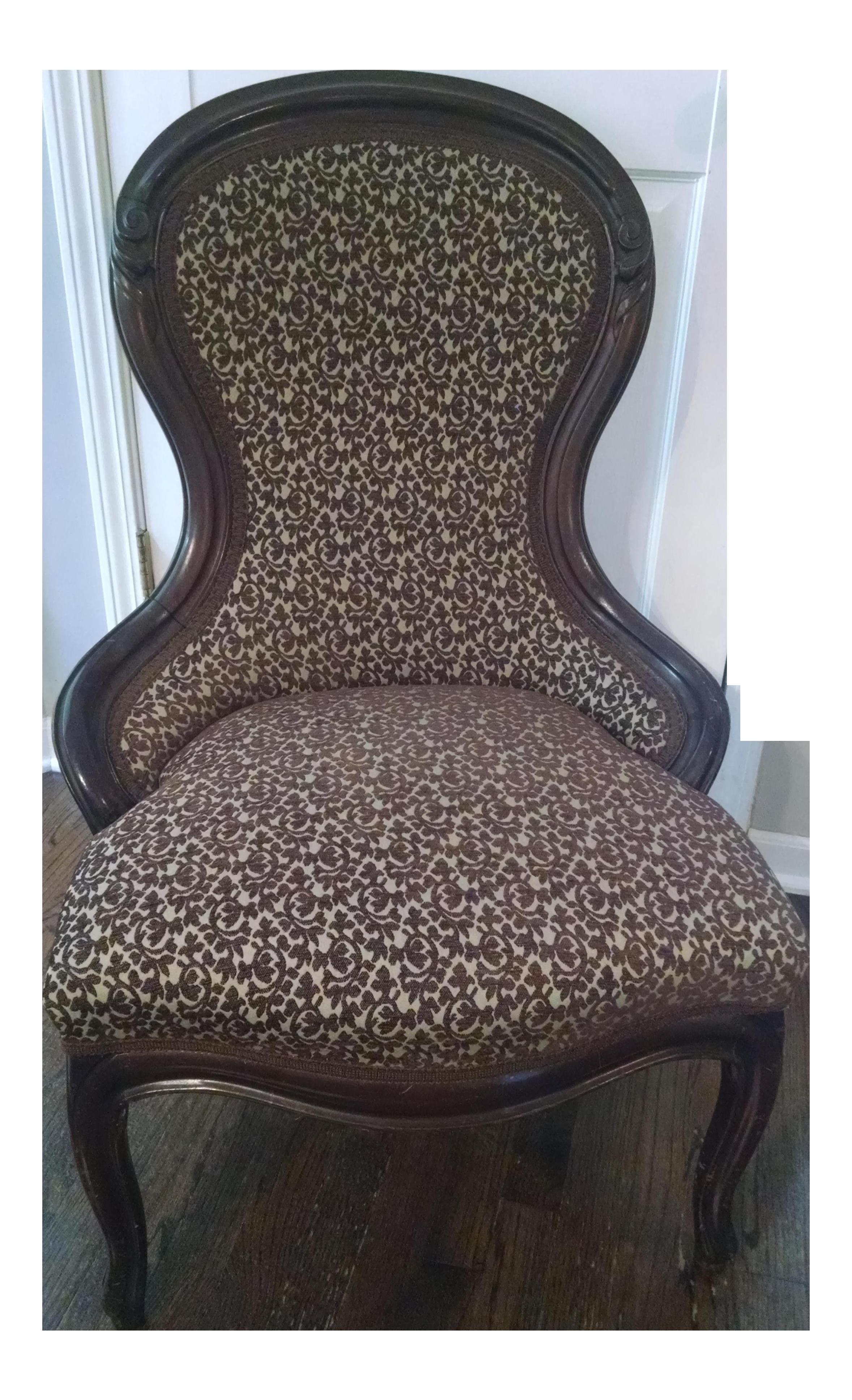 Antique Victorian Slipper Chair Chairish