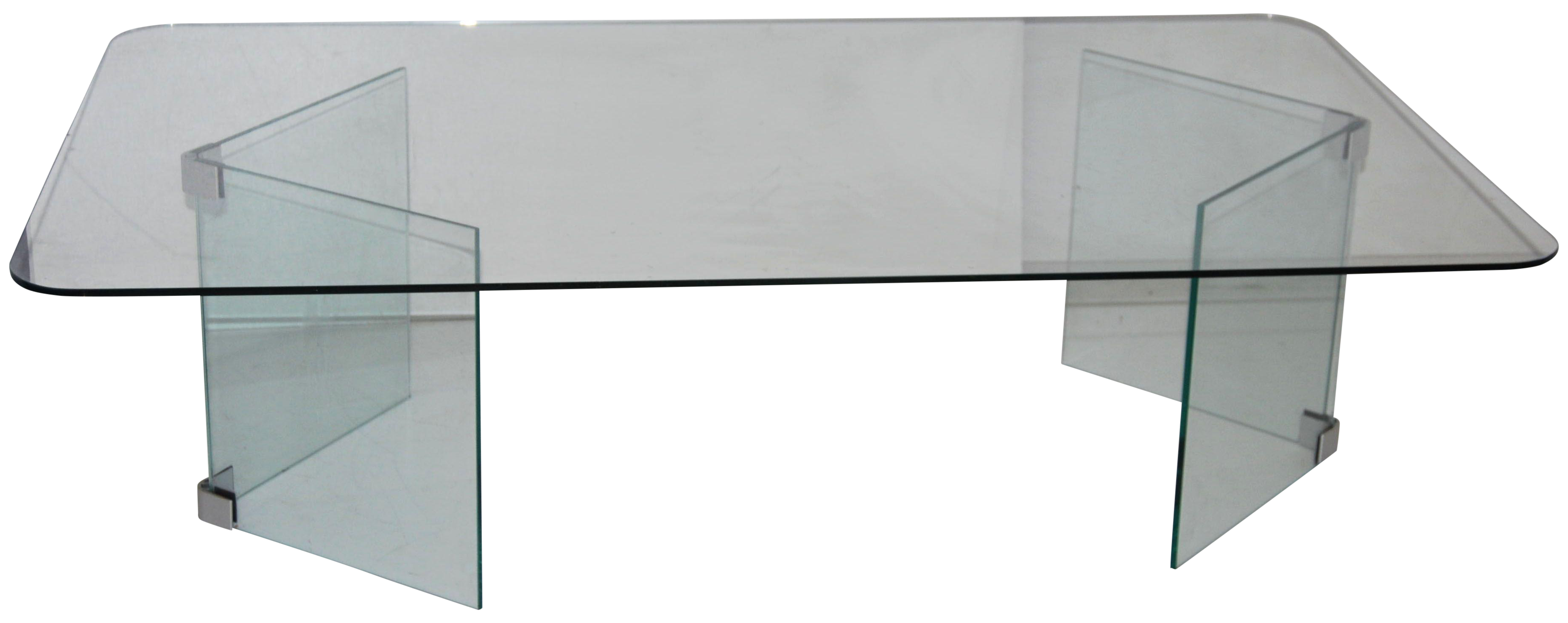 pace hollywood regency glass coffee table | chairish