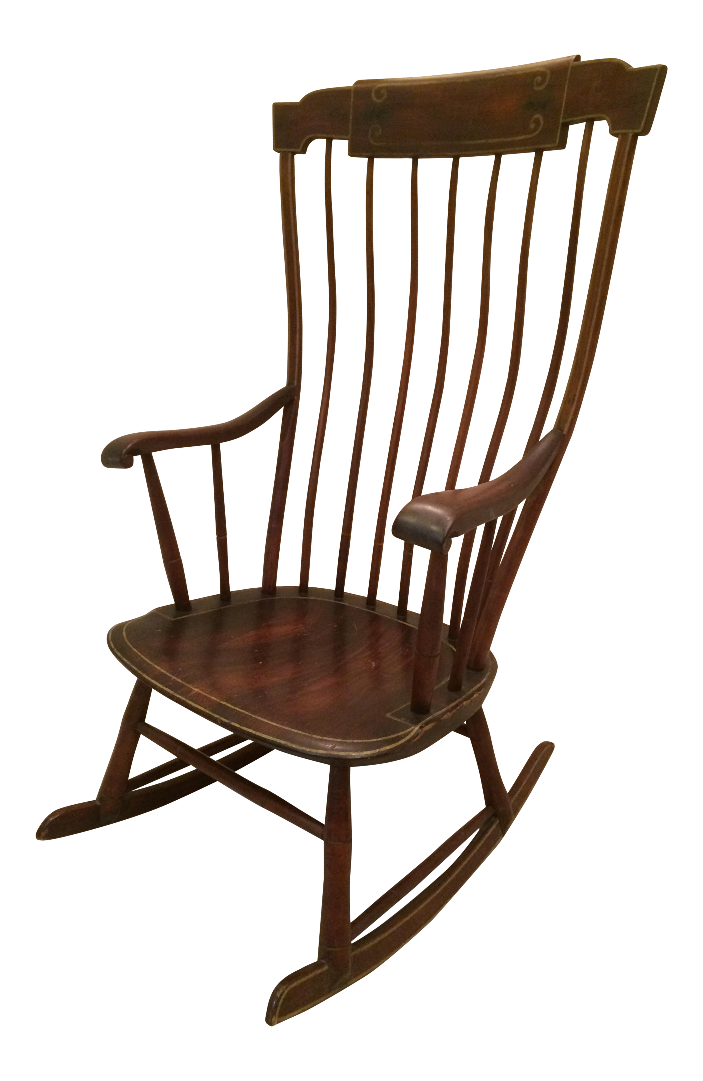Antique Federal Period Boston Windsor Rocking Chair